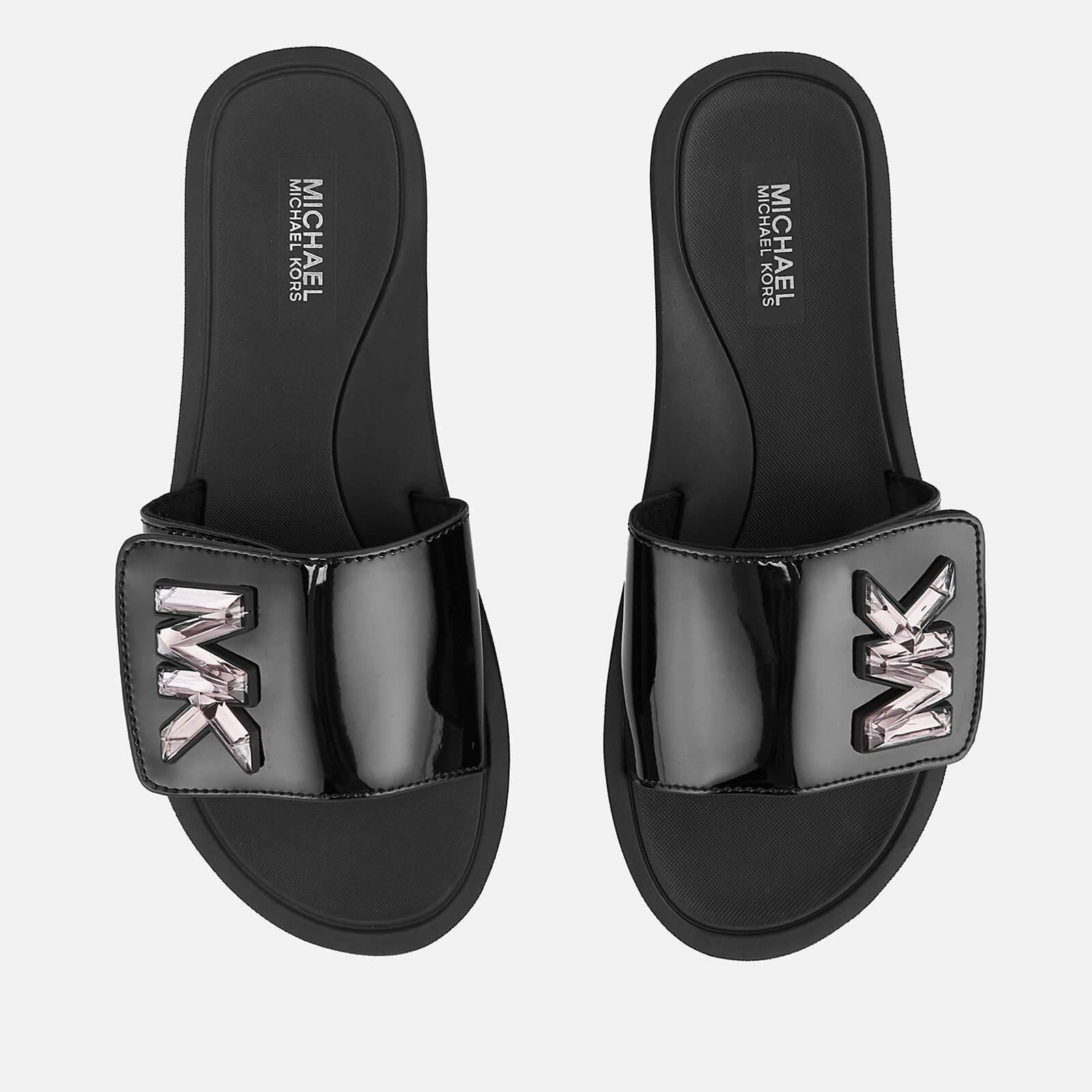 MICHAEL MICHAEL KORS Women's MK Slide Sandals - Black - UK 7/US 10 - Black