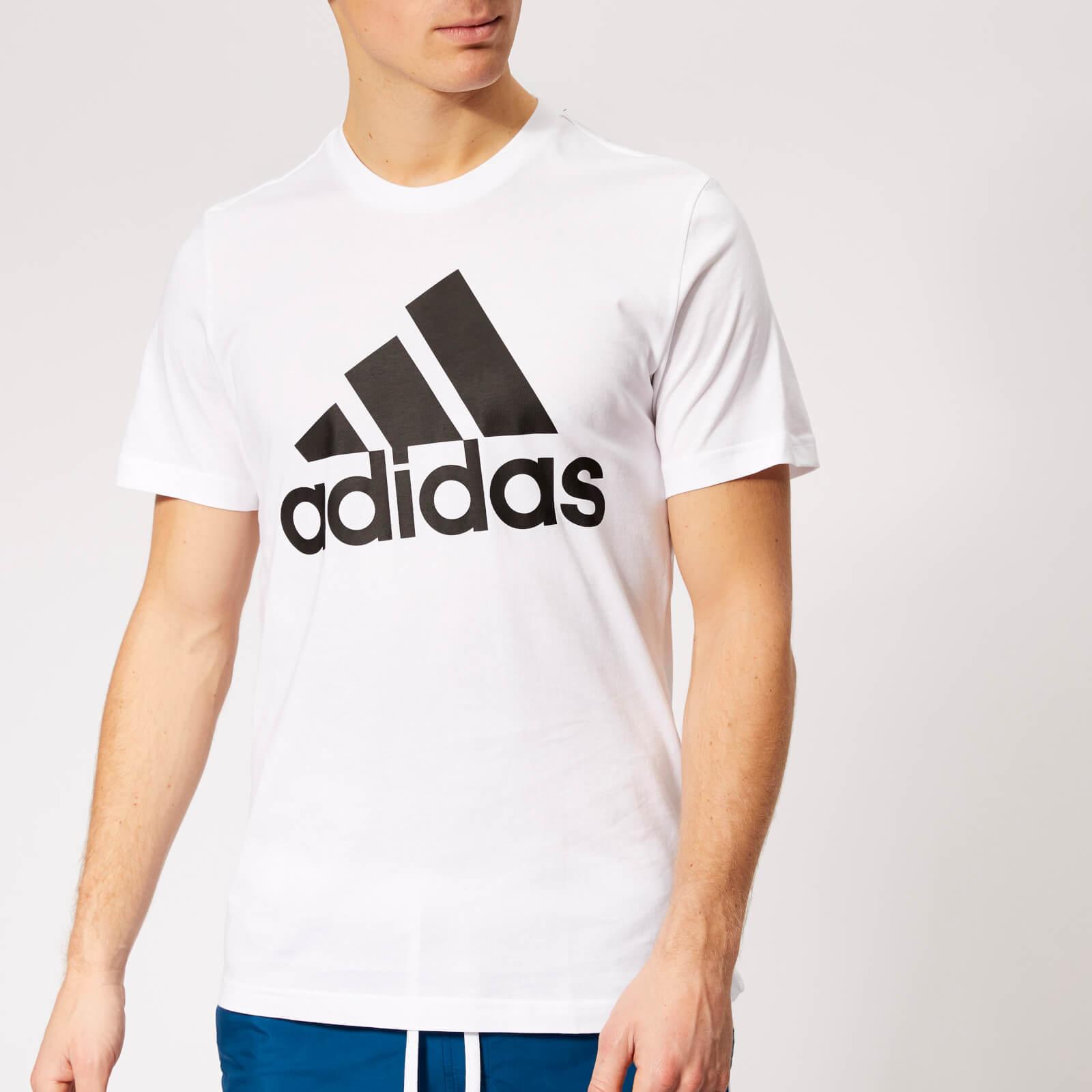 adidas Men's Must Haves Badge of Sport Short Sleeve T-Shirt - White/Black - M - White