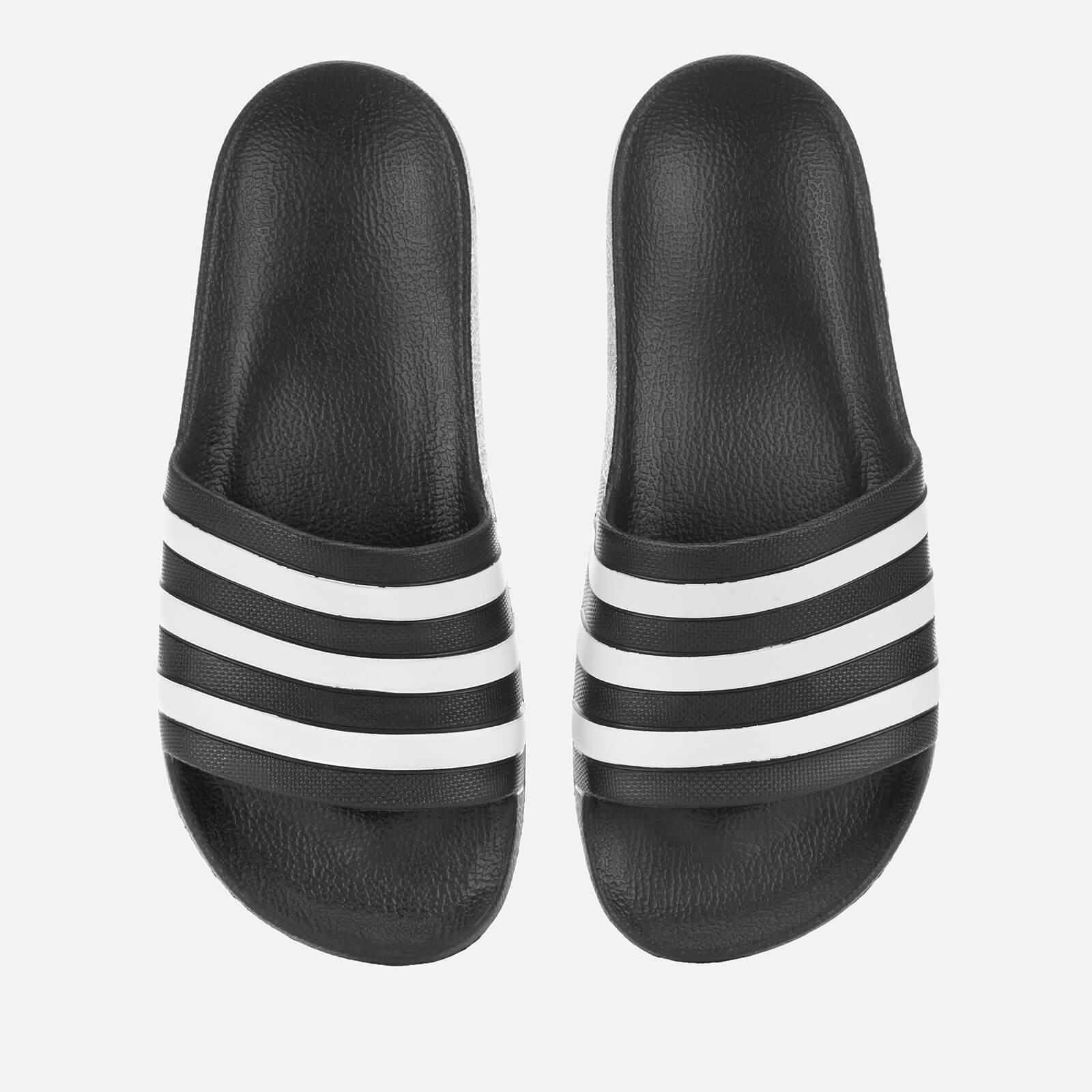 adidas Adilette Aqua Slide Sandals - Core Black - UK 4 - Black