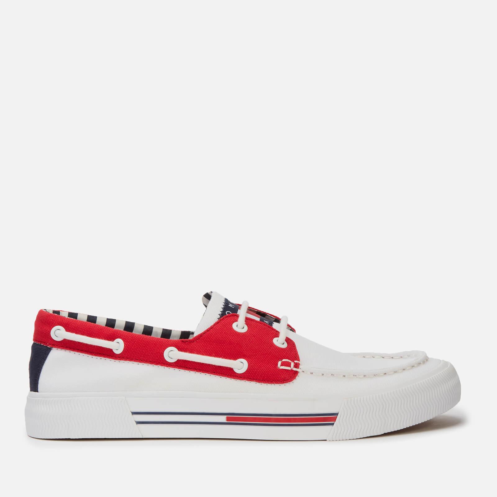 Tommy Jeans Men's Hybrid City Boat Shoes - Red/White/Black - UK 10 - White