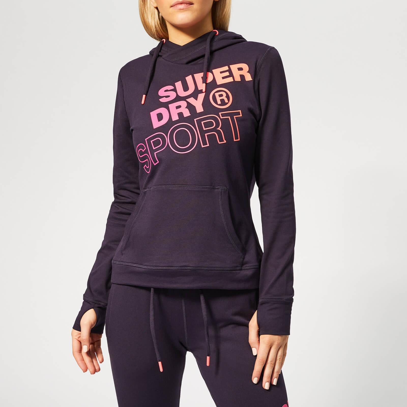 Superdry Sport Women's Core Graphic Hoody - Midnight Purple - UK 12 - Purple