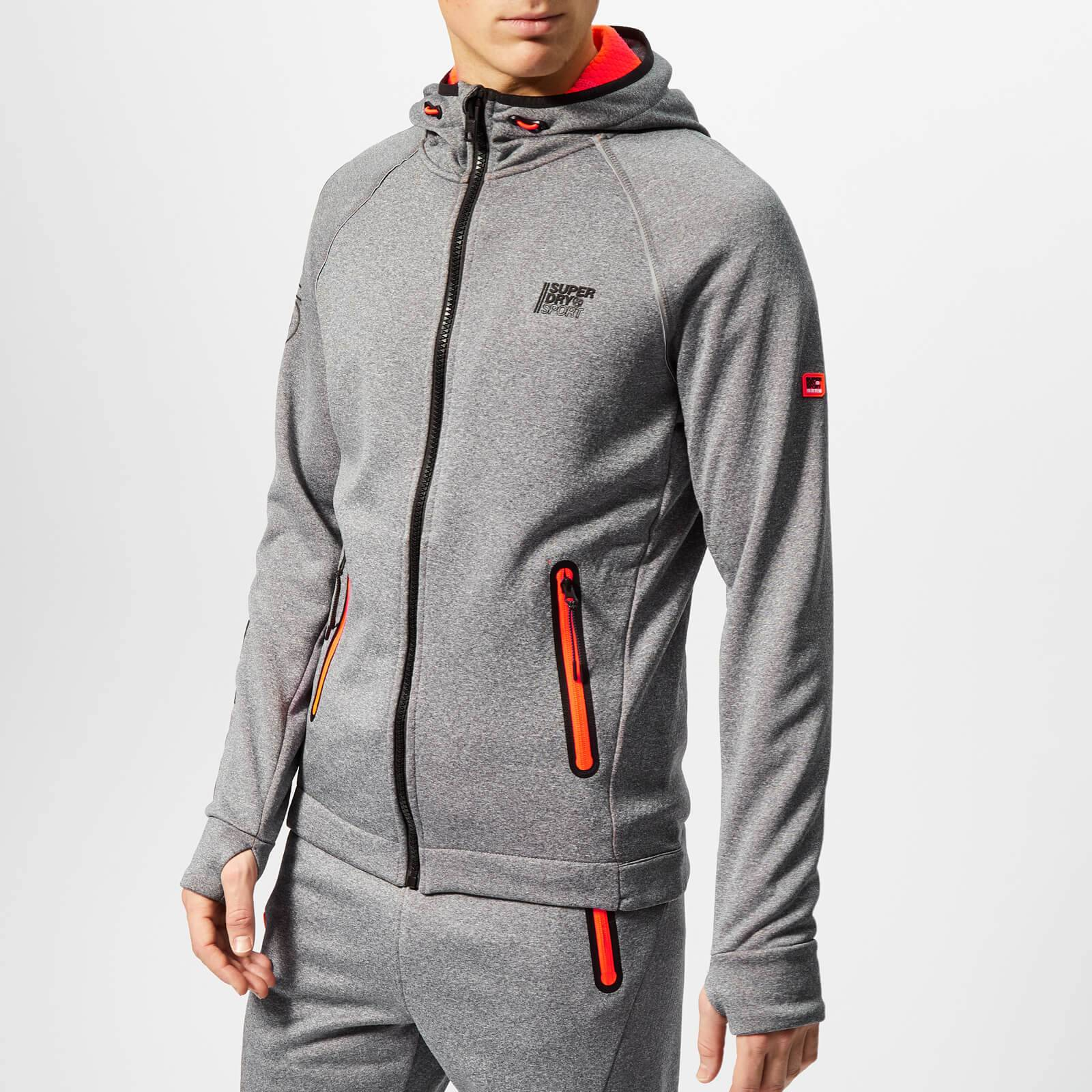 Superdry Sport Men's Winter Training Zip Hoody - Black Grit - L - Grey