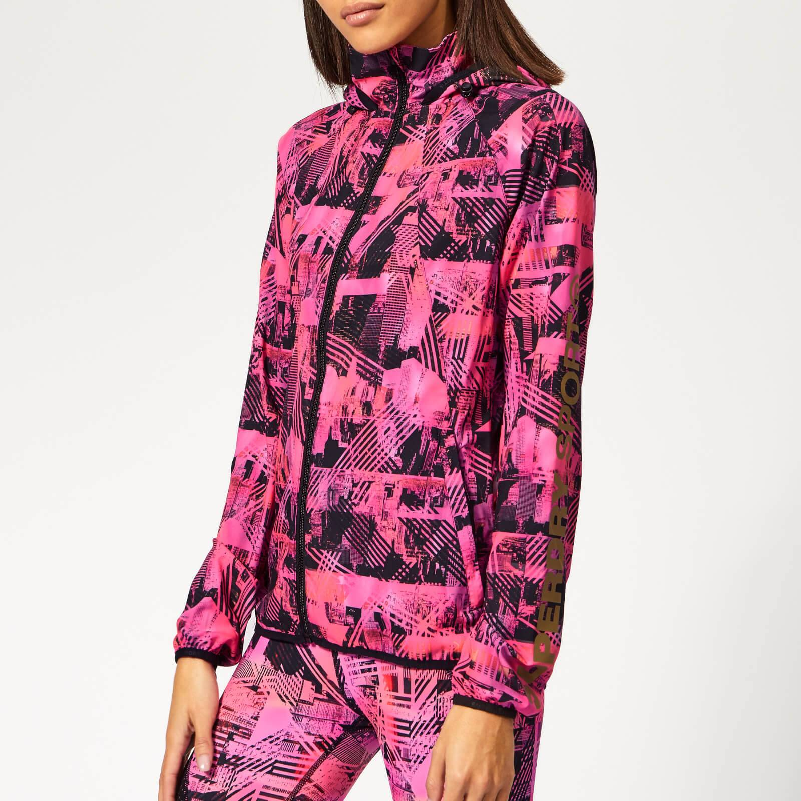 Superdry Sport Women's Active Lightweight Jacket - Splice City Print - UK 14 - Pink