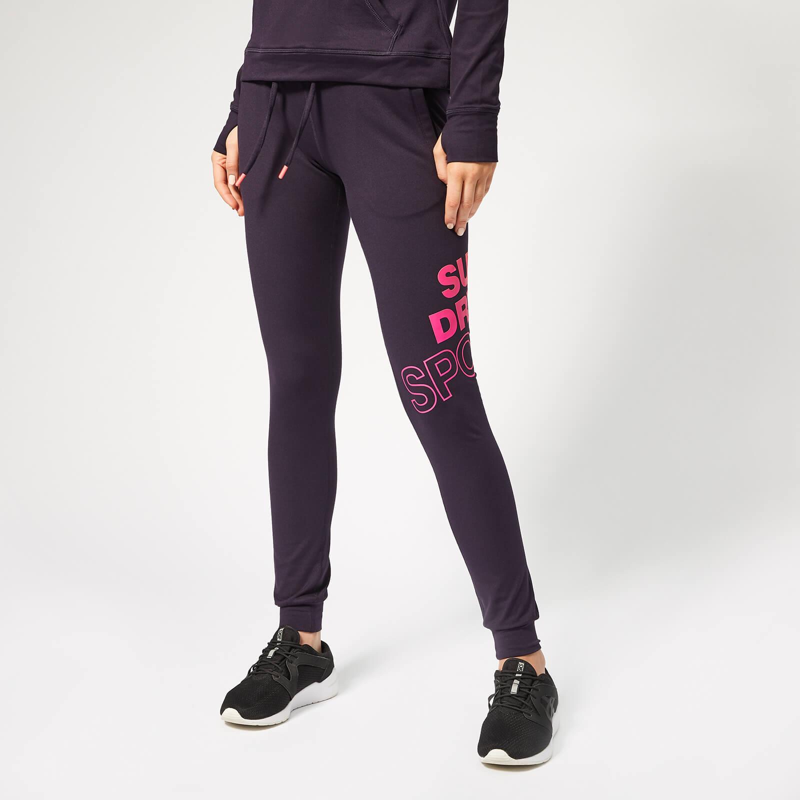 Superdry Sport Women's Core Graphic Joggers - Midnight Purple - UK 14 - Purple