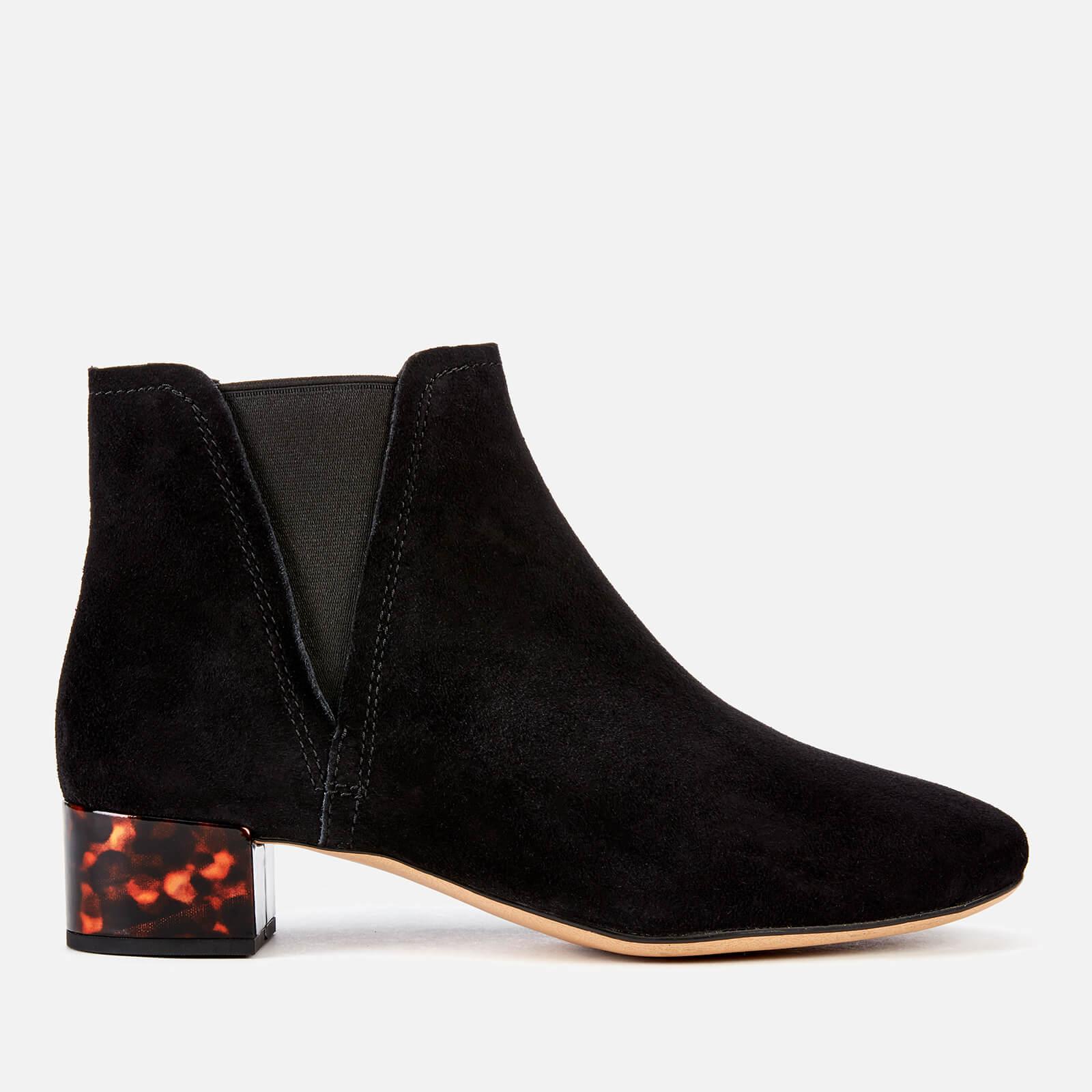 Clarks Women's Orabella Ruby Suede Heeled Ankle Boots - Black - UK 6 - Black