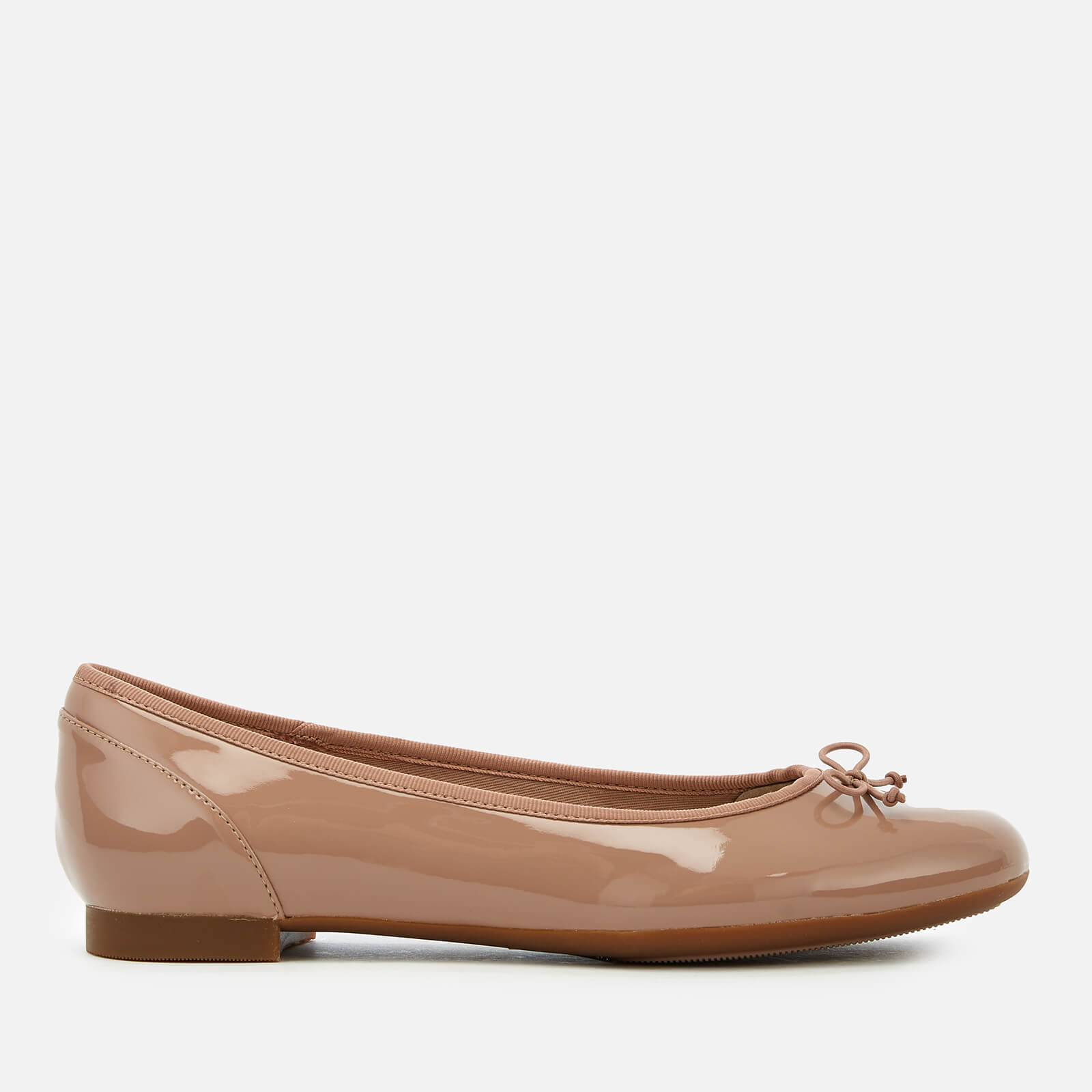 Clarks Women's Couture Bloom Patent Leather Ballet Pumps - Nude - UK 8