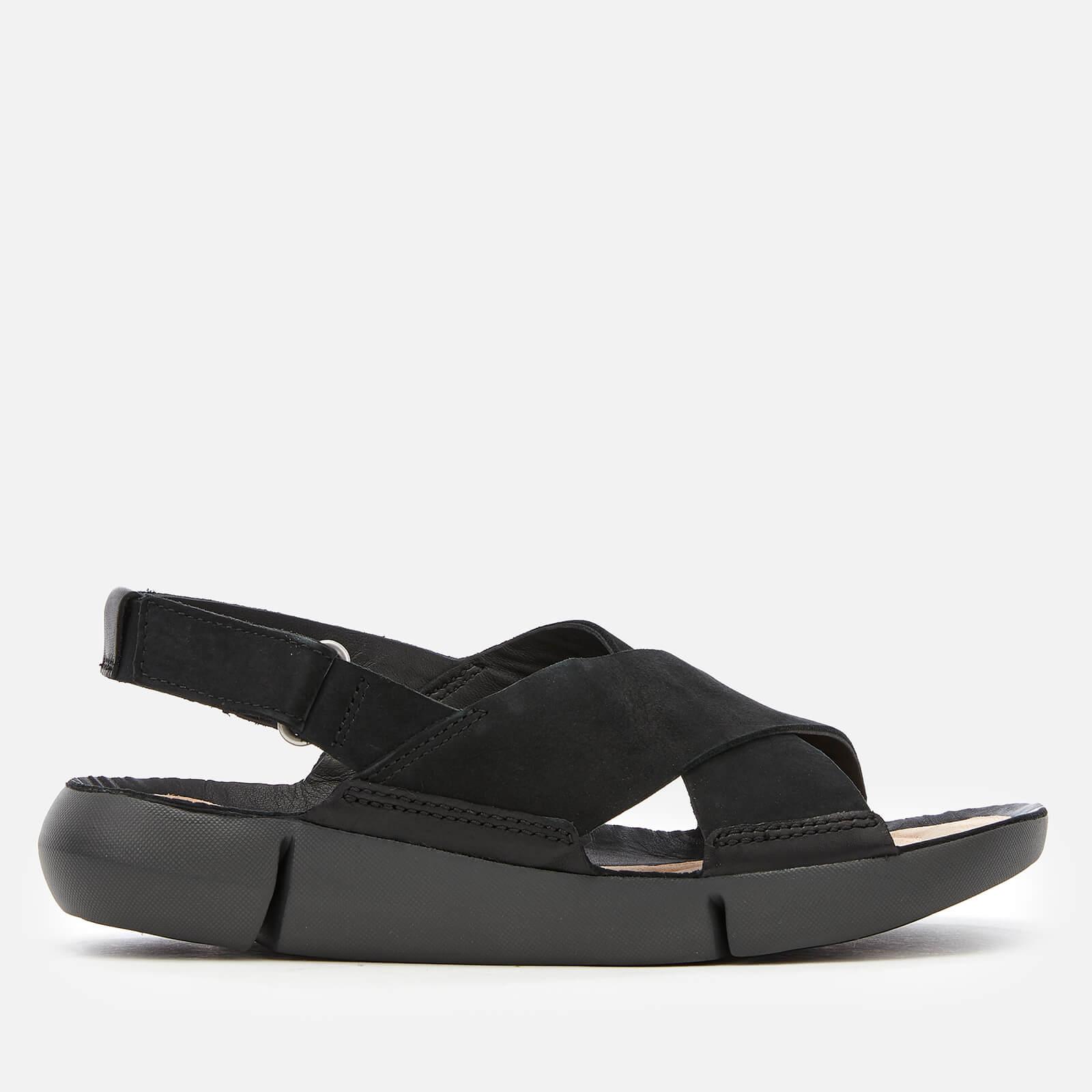 Clarks Women's Tri Chloe Cross Strap Sandals - Black Combi - UK 8 - Black