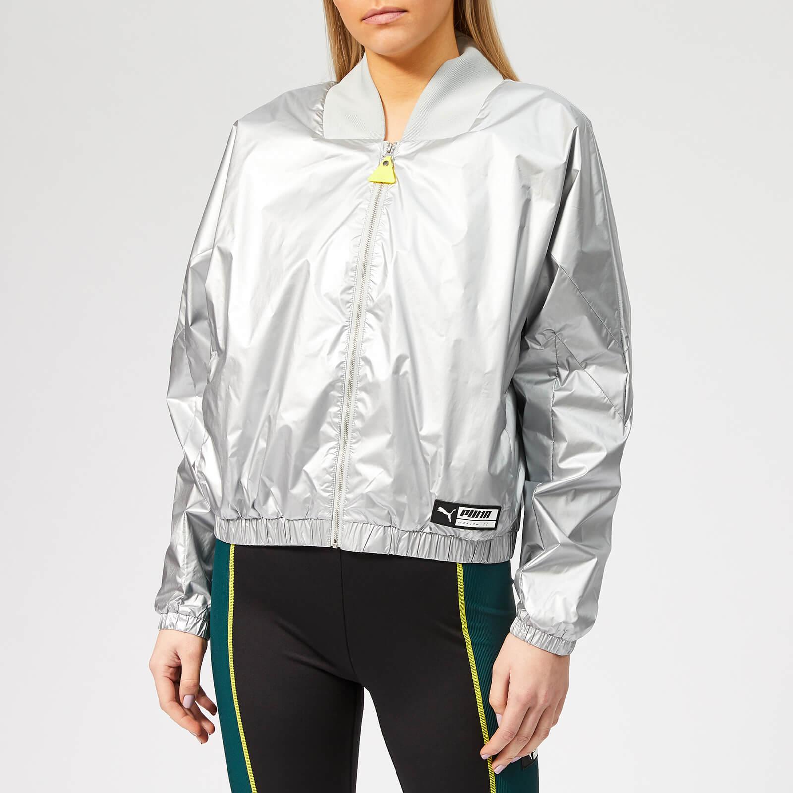 Puma Women's TZ Jacket - Puma White - M - Silver