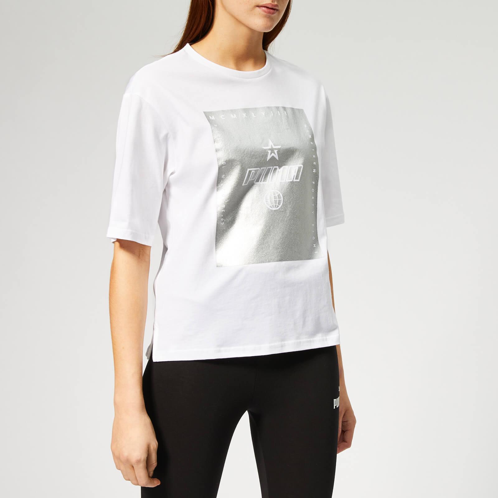 Puma Women's Tz Short Sleeve T-Shirt - Puma White - S - White