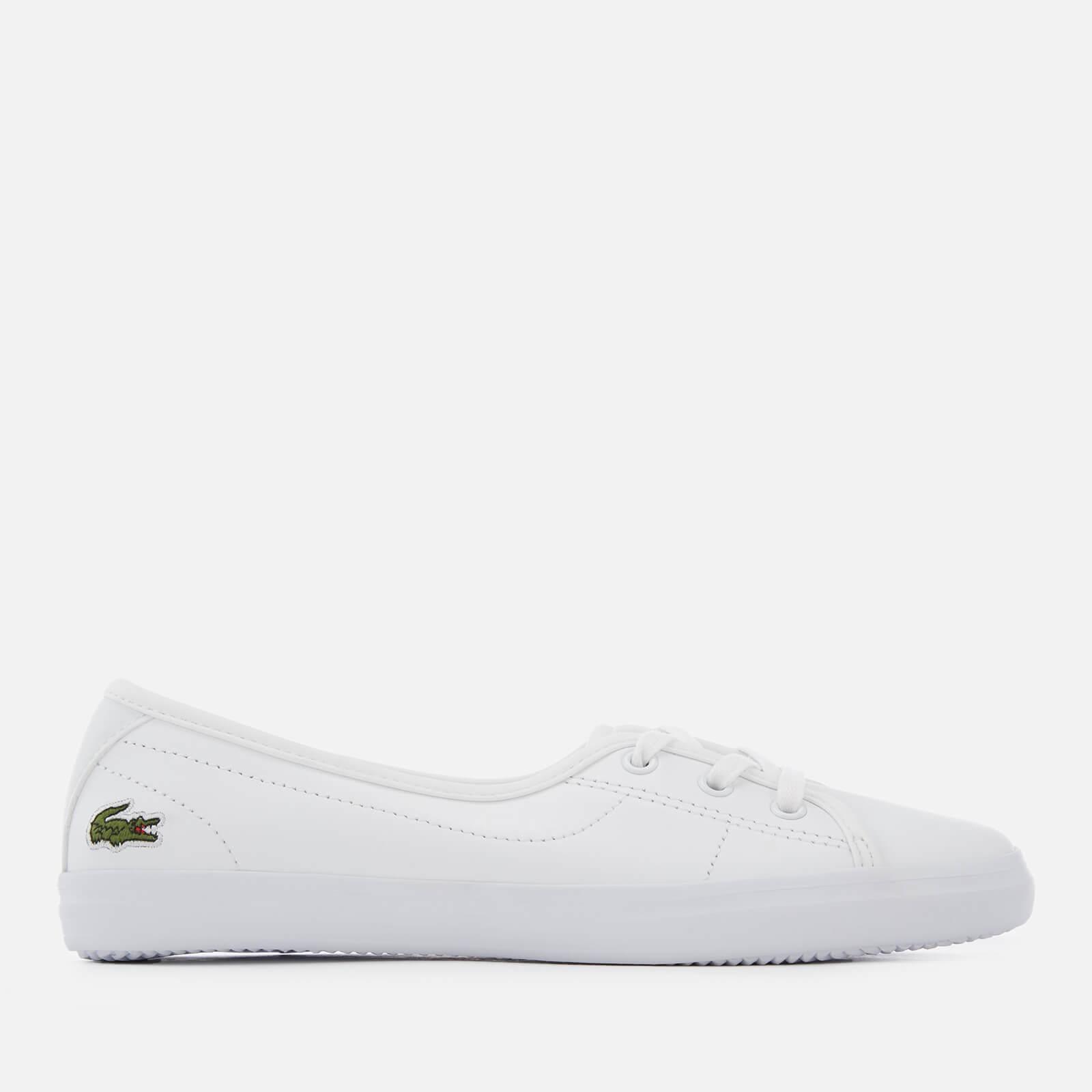Lacoste Women's Ziane Chunky BL Leather 3-Eye Pumps - White/White - UK 7 - White/White