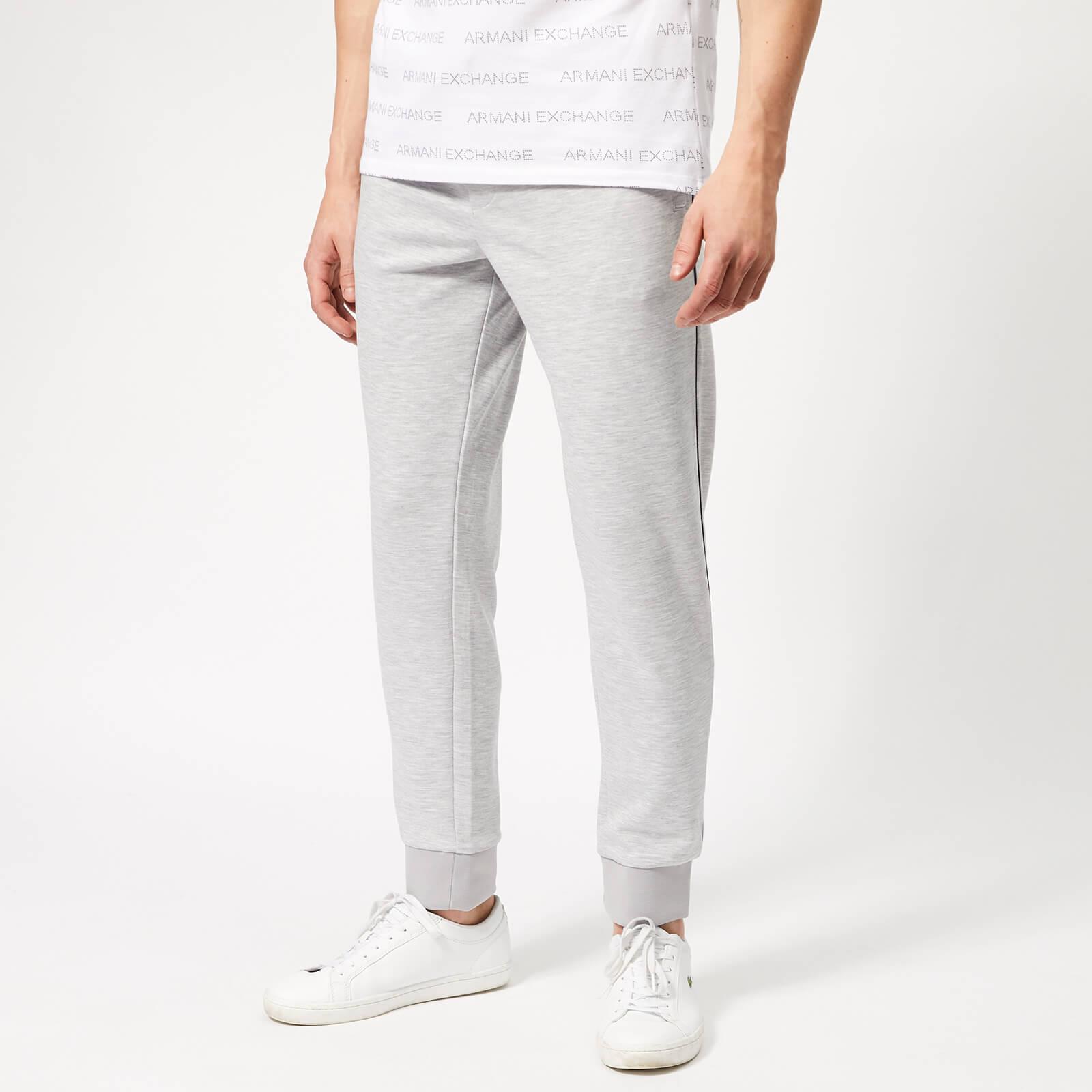 Armani Exchange Men's Small Logo Sweat Pants - Heather Grey - S - Grey