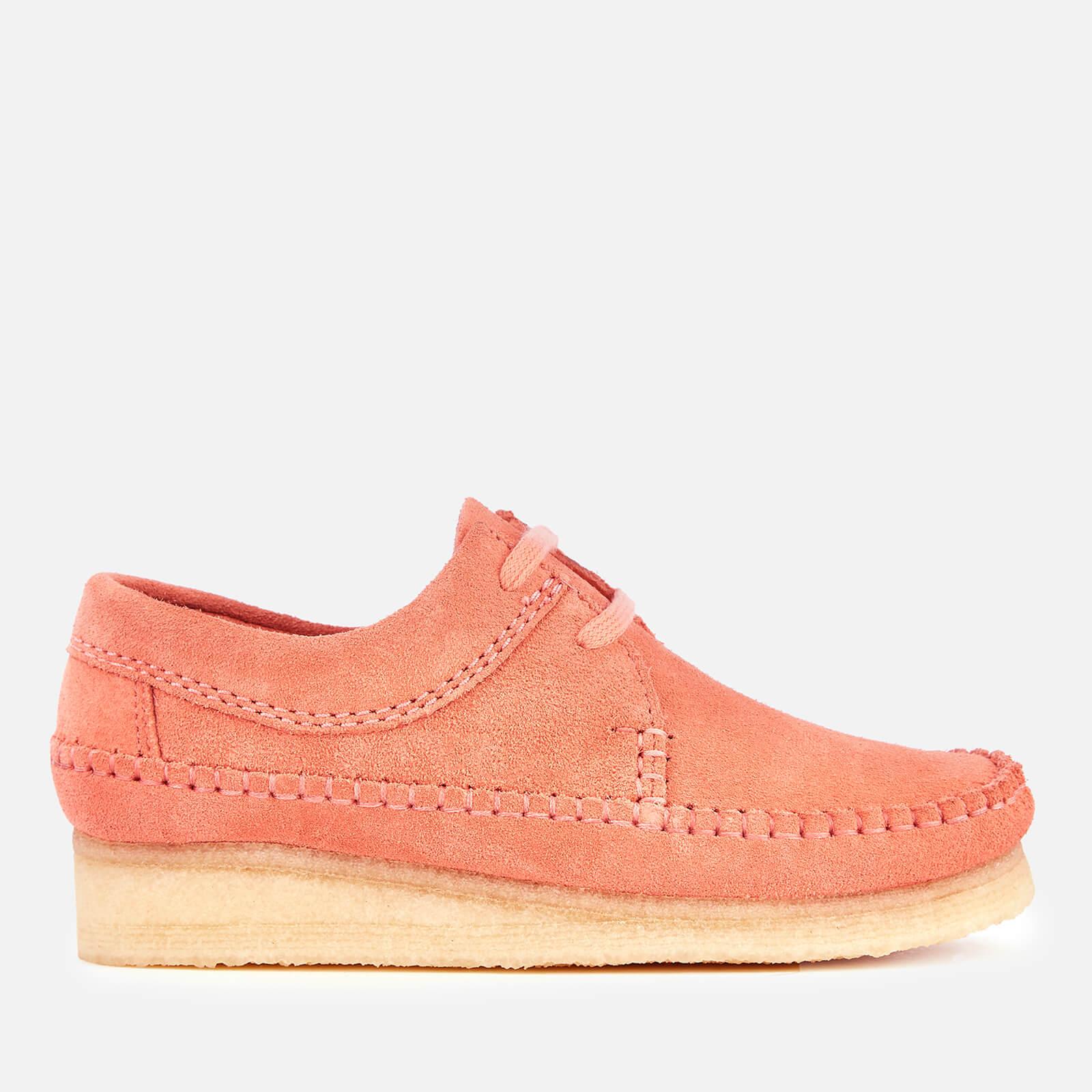 Clarks Originals Women's Weaver Suede Shoes - Coral - UK 6 - Pink