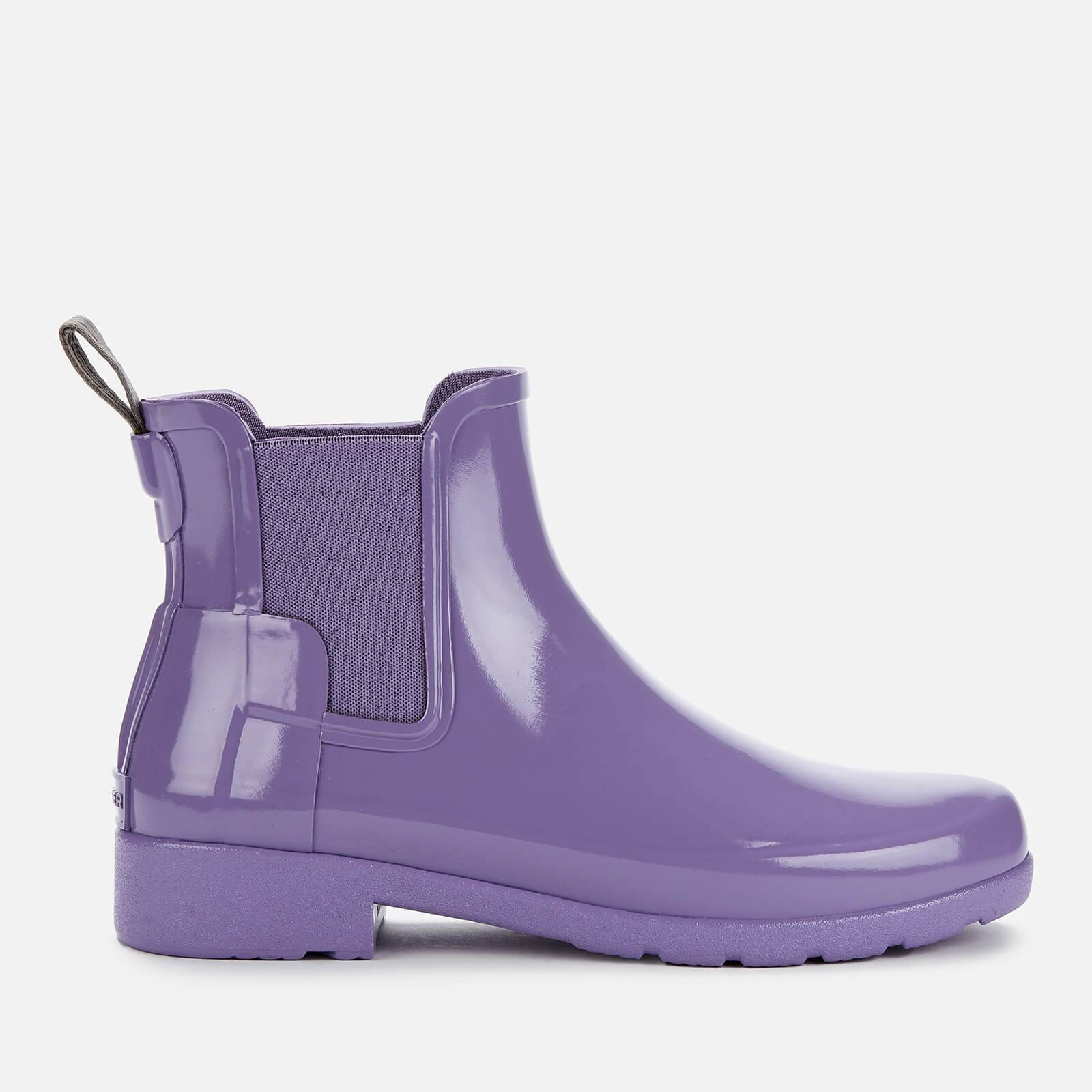 Hunter Women's Original Refined Gloss Chelsea Boots - Parma Violet - UK 5 - Purple