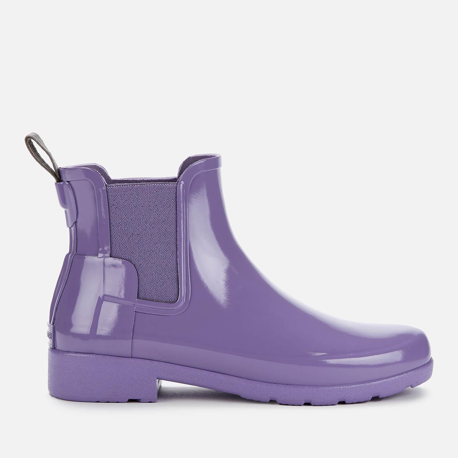 Hunter Women's Original Refined Gloss Chelsea Boots - Parma Violet - UK 6 - Purple