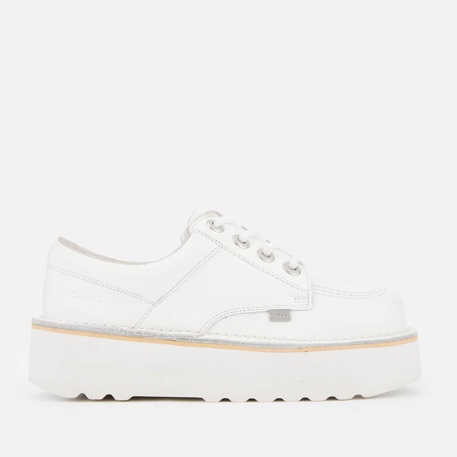 Kickers Women's Kick Lo Stack Shoes - White/Metallic - UK 5 - White