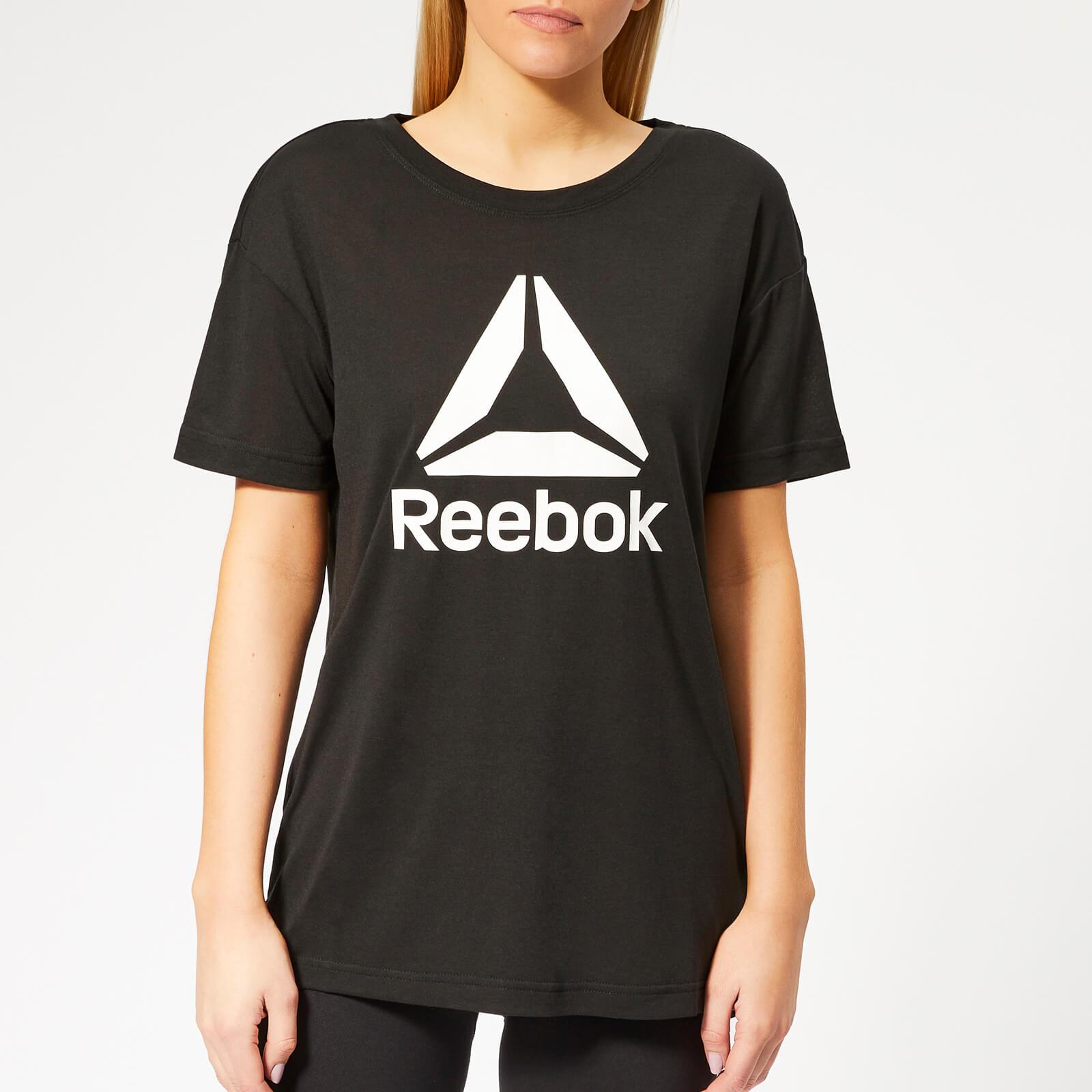 Reebok Women's WOR Supremium 2.0 Short Sleeve T-Shirt - Black - S - Black