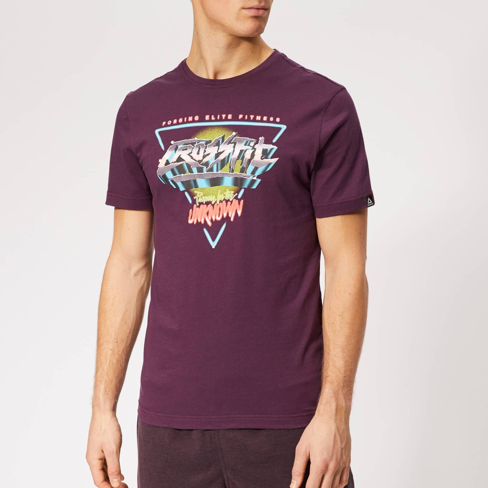 Reebok Men's Crossfit Neon Retro Short Sleeve T-Shirt - Purple - XL - Purple