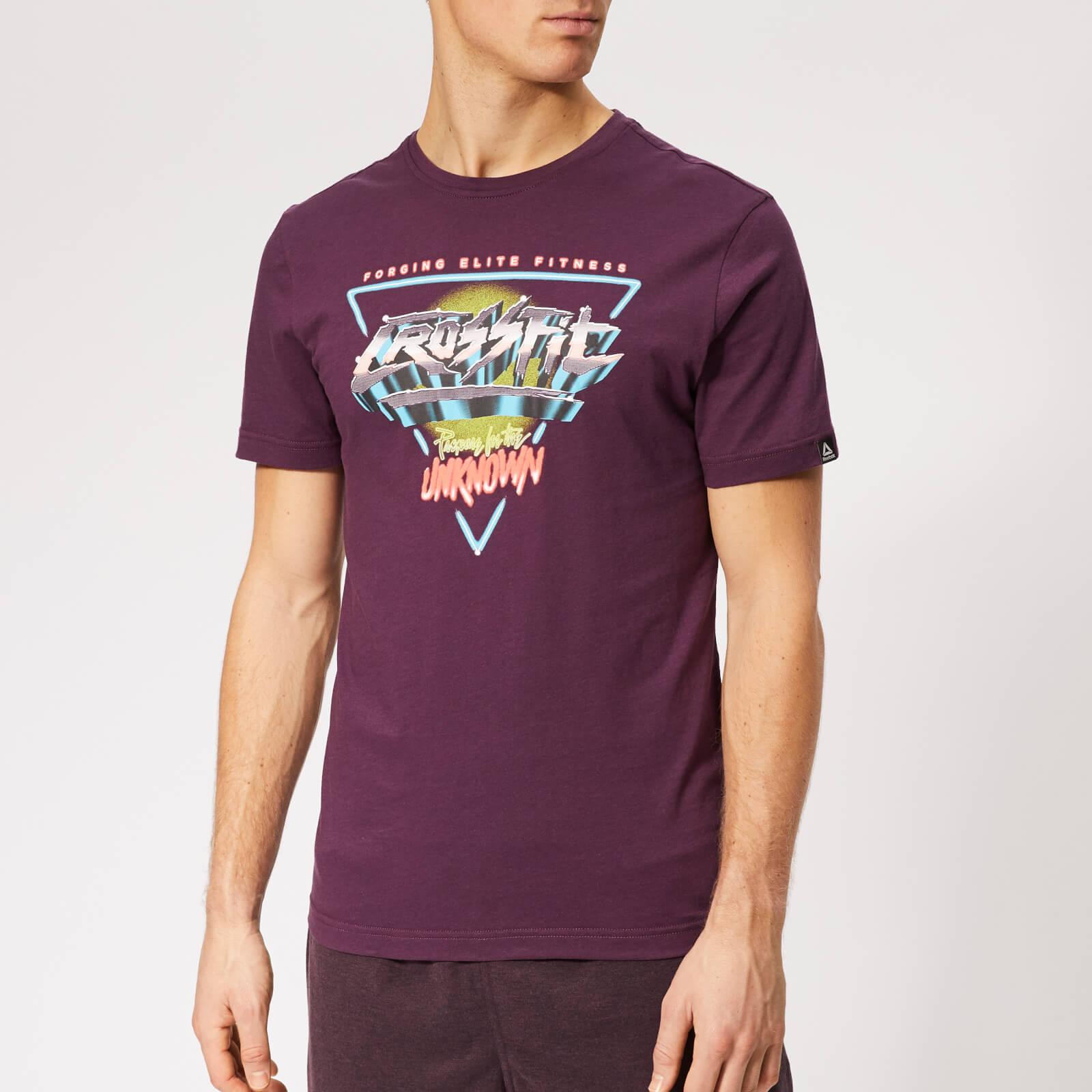 Reebok Men's Crossfit Neon Retro Short Sleeve T-Shirt - Purple - L - Purple