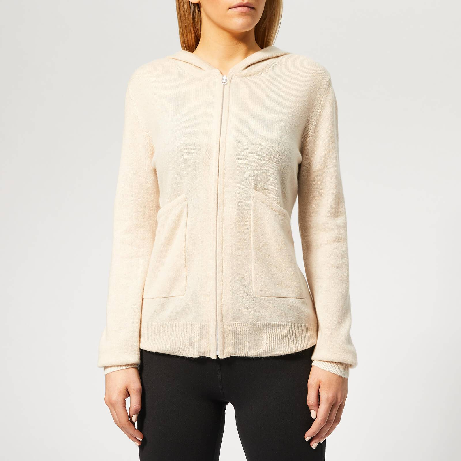 Pepper & Mayne Women's Exclusive Cashmere Apres Sport Hoody - Creme Brulee - S - Cream
