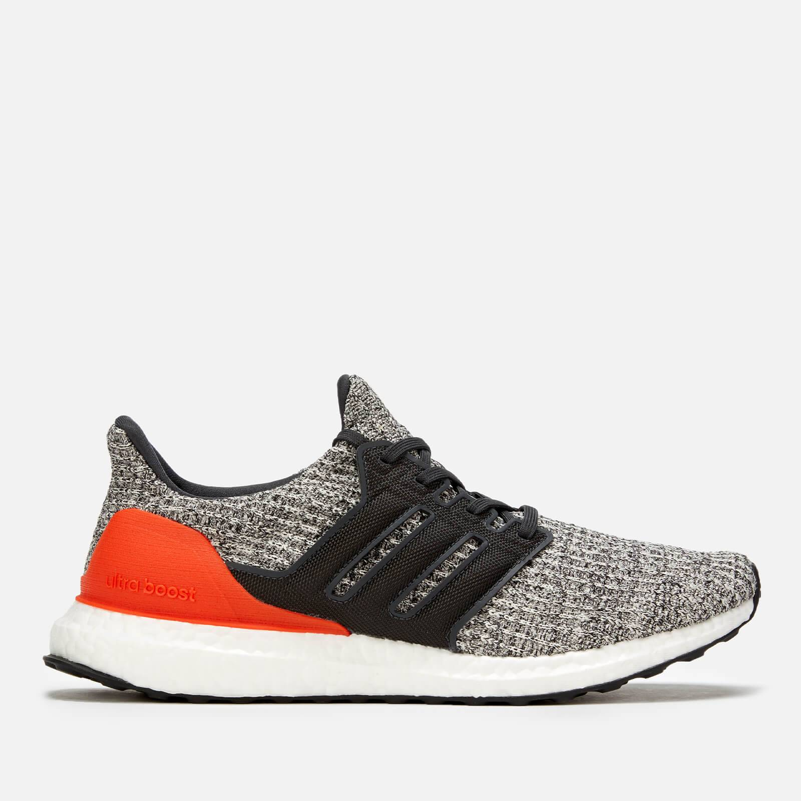 adidas Men's Ultraboost Trainers - Raw White/Carbon/Active Orange - UK 7 - Black