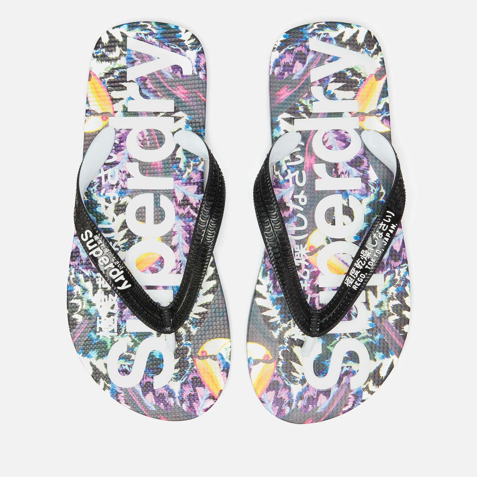 Superdry Women's Aop Flip Flops - Toucan Bazaar - M/UK 5-6 - Multi