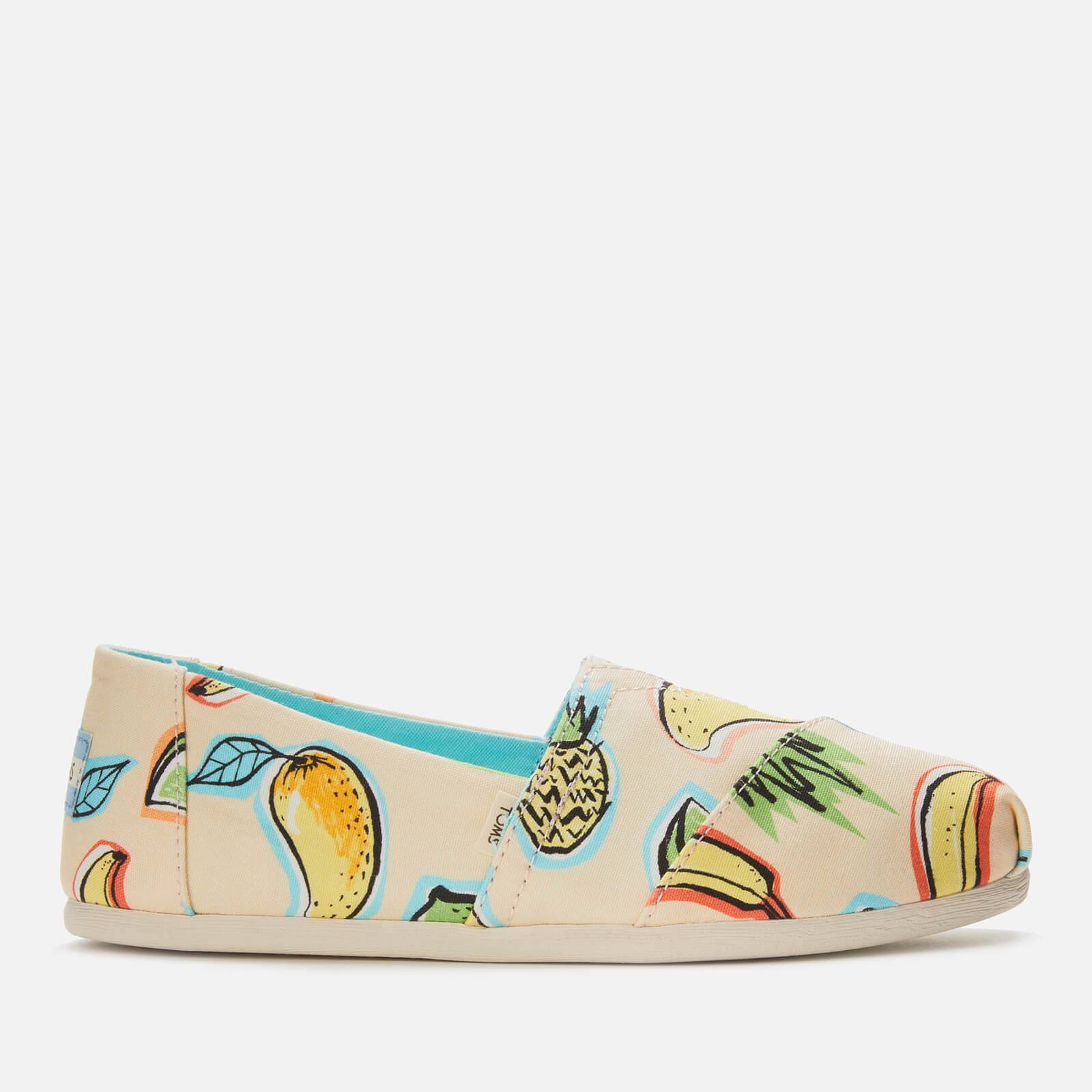 TOMS Women's Alpargata Vegan Slip-On Pumps - Cuba Fruit - UK 4