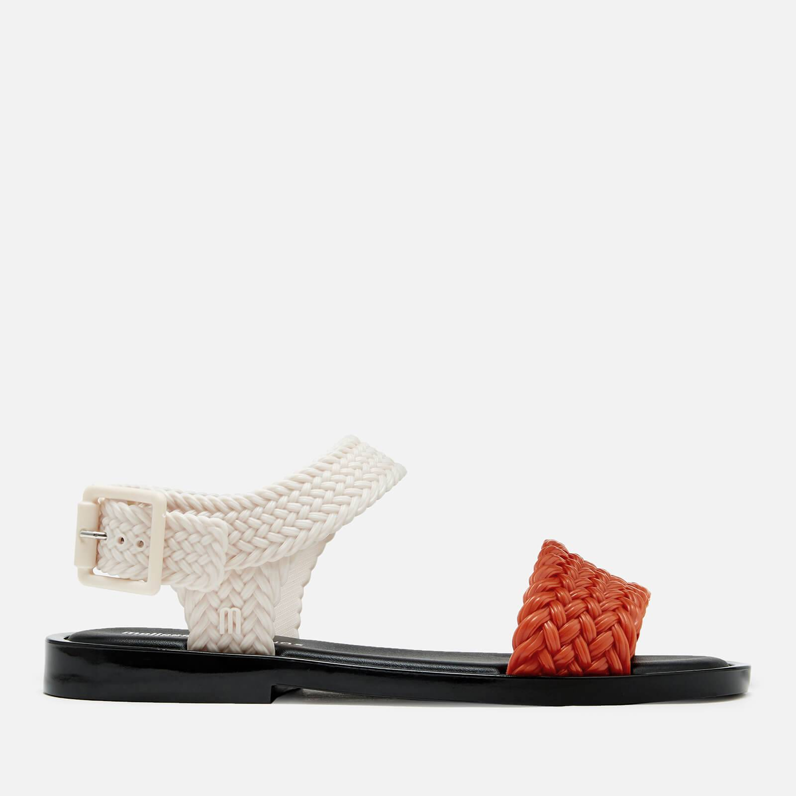 Melissa Women's Salinas Mar Braid Double Strap Sandals - Tan Contrast - UK 8 - Orange