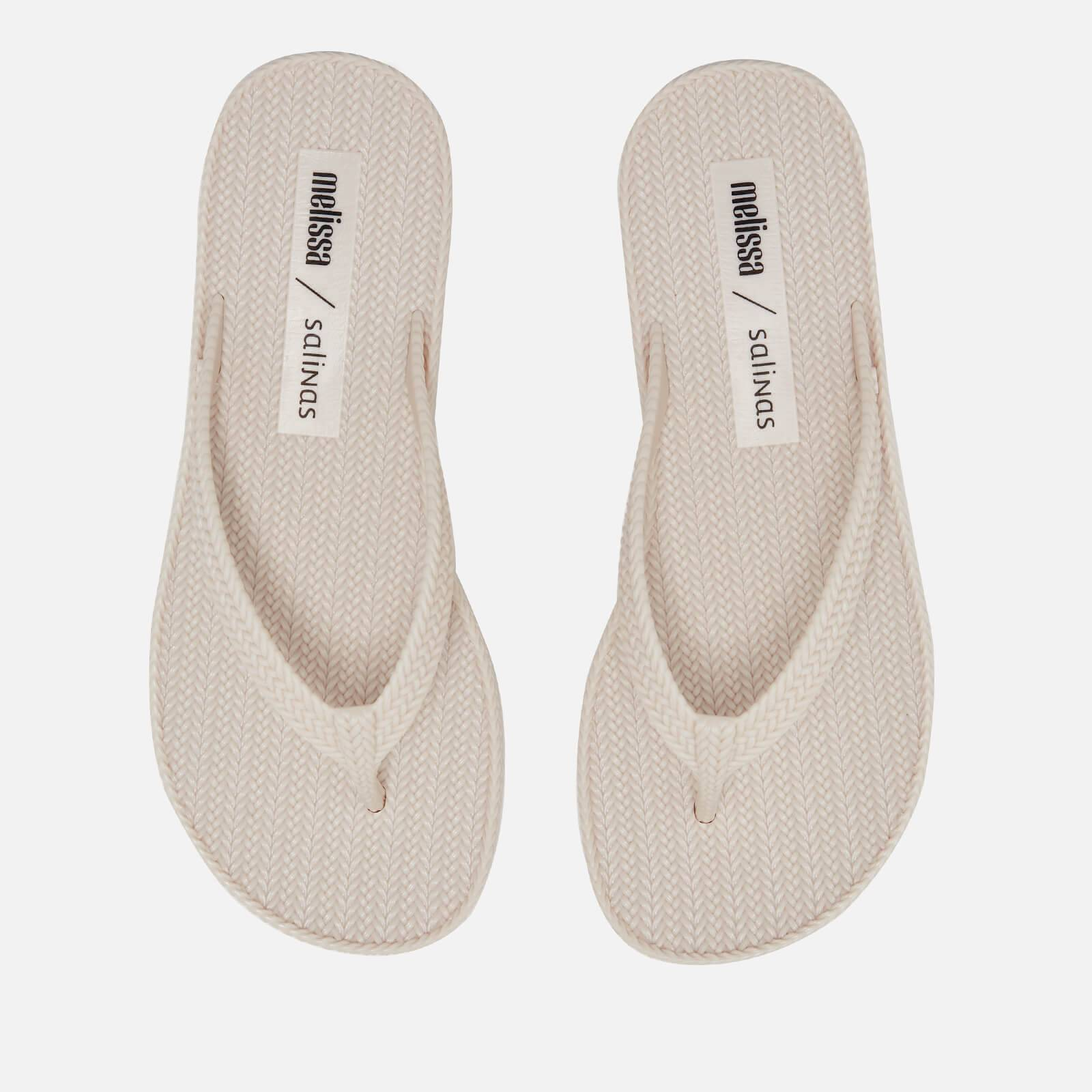 Melissa Women's Salinas Summer Braid Flip Flops - Ivory - UK 4 - White