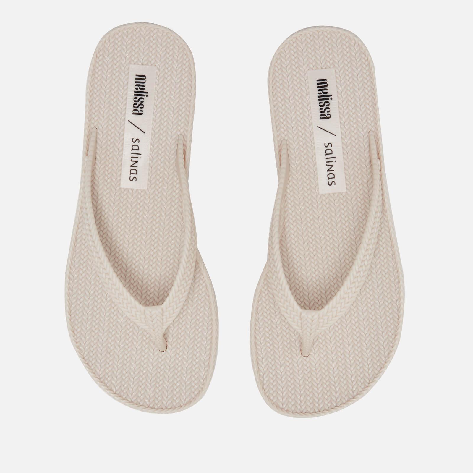 Melissa Women's Salinas Summer Braid Flip Flops - Ivory - UK 8 - White