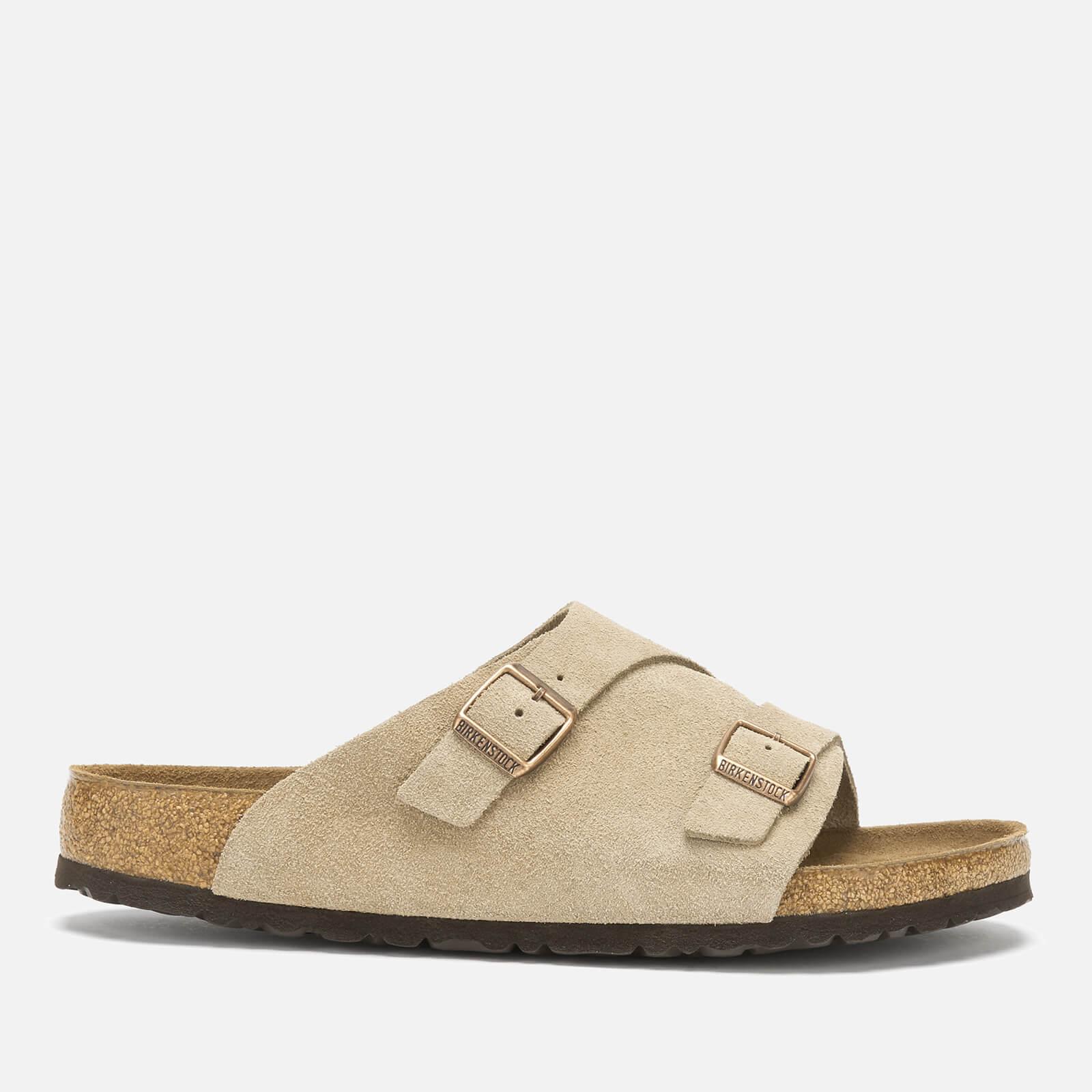 Birkenstock Men's Zurich Sfb Suede Slide Sandals - Taupe - EU 43/UK 9