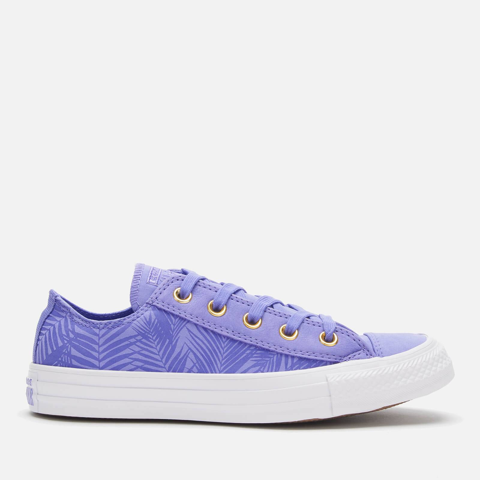 Converse Women's Chuck Taylor All Star Ox Trainers - Wild Lilac/Antique Brass/White - UK 6 - Purple