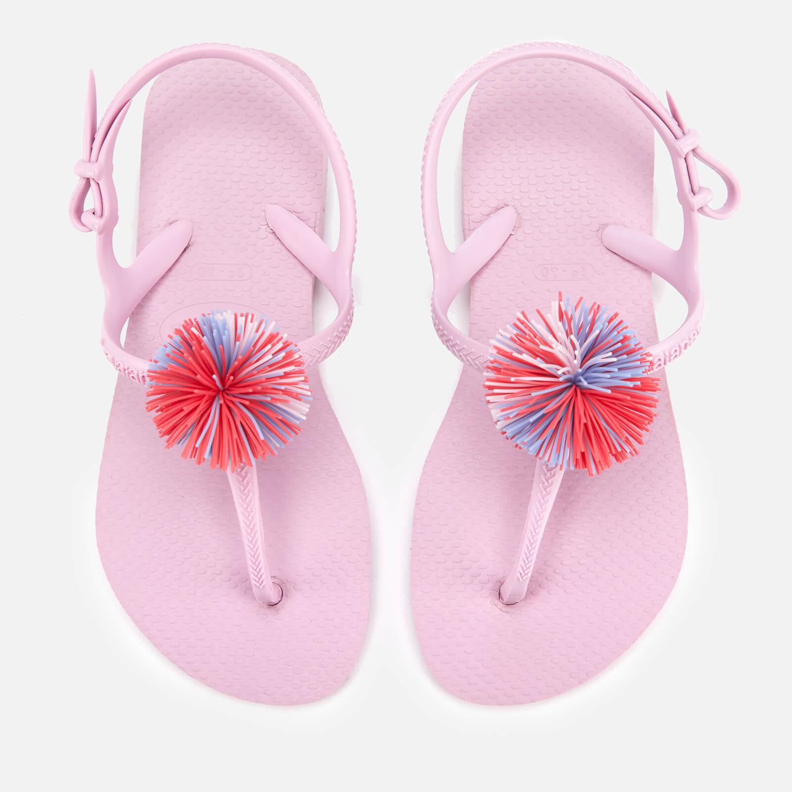 Havaianas Kids' Freedom Sl Pompom Sandals - Rose Quartz - EU 25-26/UK 8-9 Kids - Pink