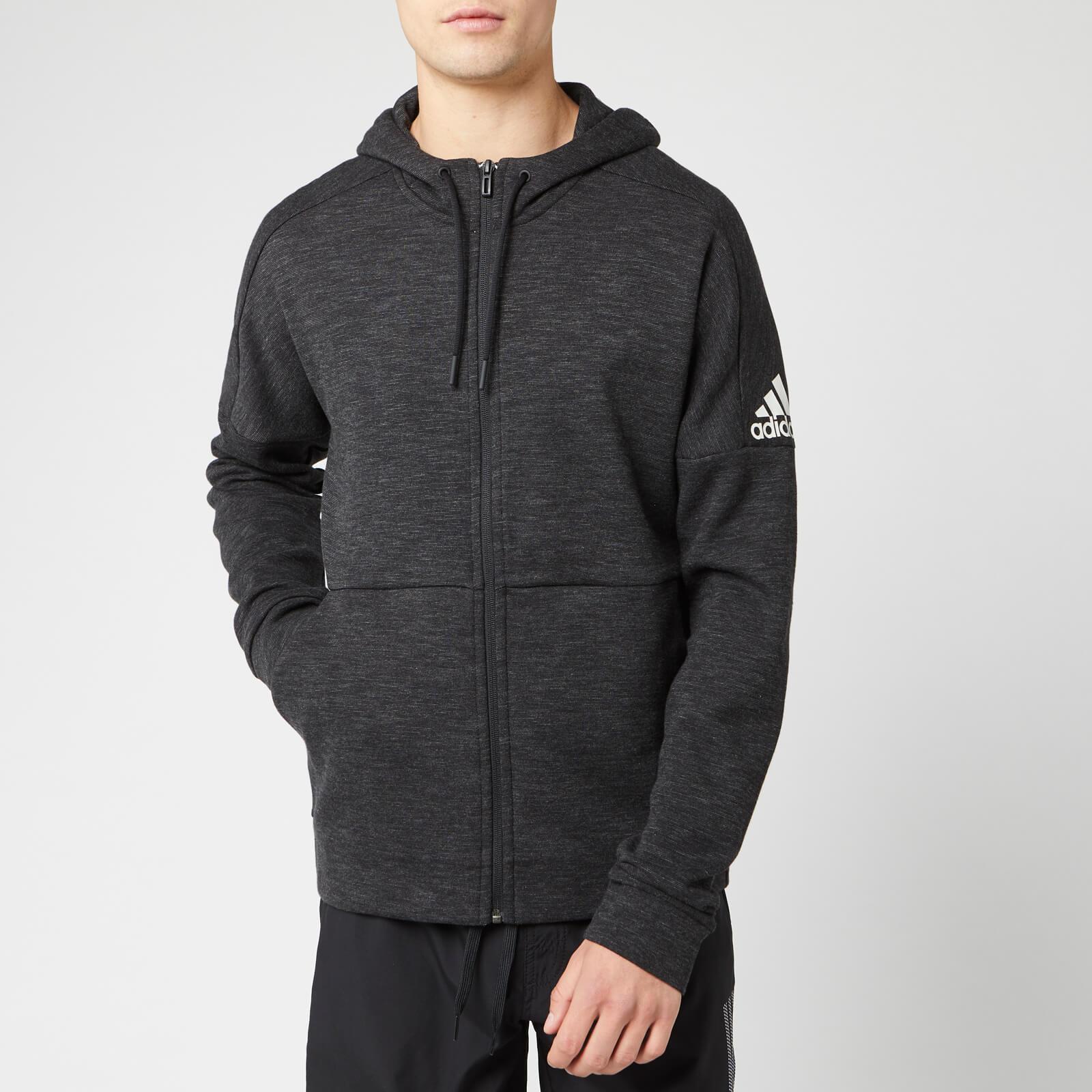 adidas Men's ID Stadium Full Zip Hoodie - Black - XL - Black