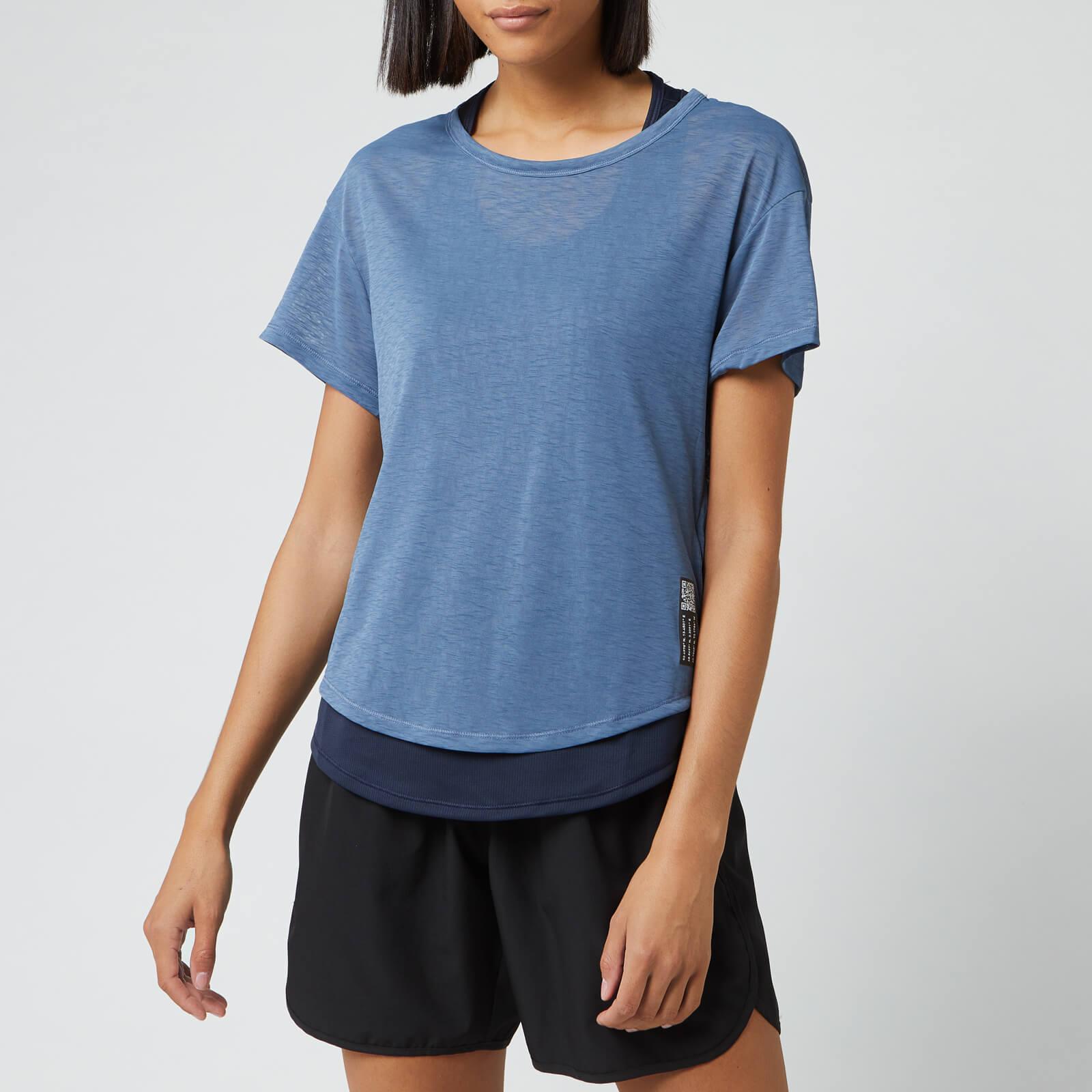 adidas Women's Adapt Short Sleeve T-Shirt - Blue - M - Blue