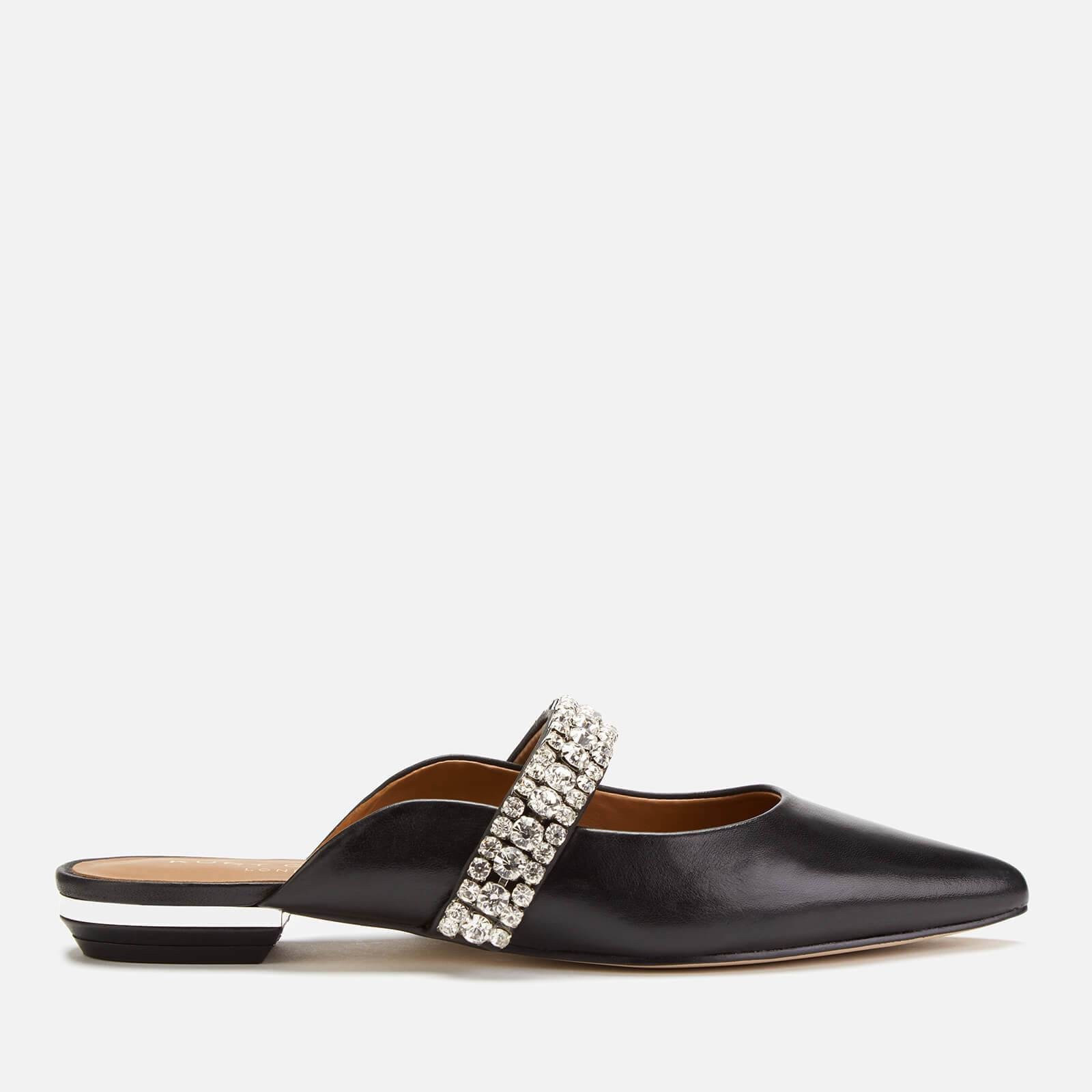 Kurt Geiger London Women's Princely Leather Flat Mules - Black - UK 4 - Black