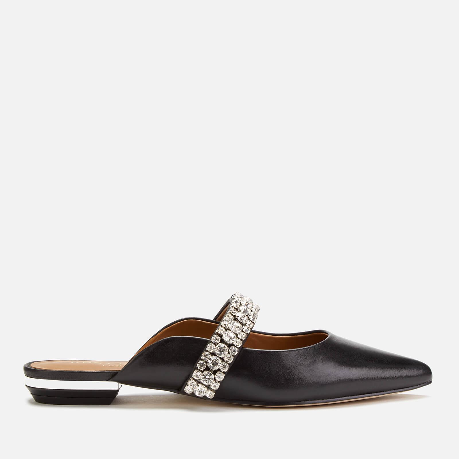 Kurt Geiger London Women's Princely Leather Flat Mules - Black - UK 3 - Black