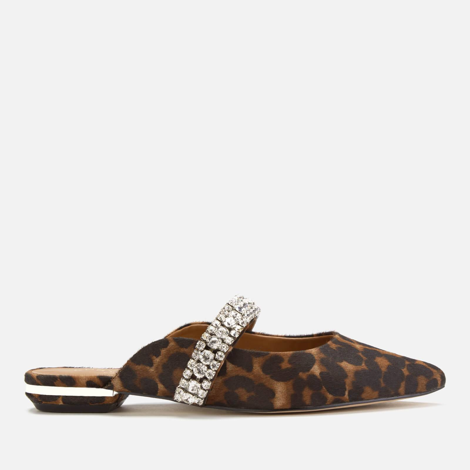 Kurt Geiger London Women's Princely Flat Mules - Cream Comb - UK 4 - Tan