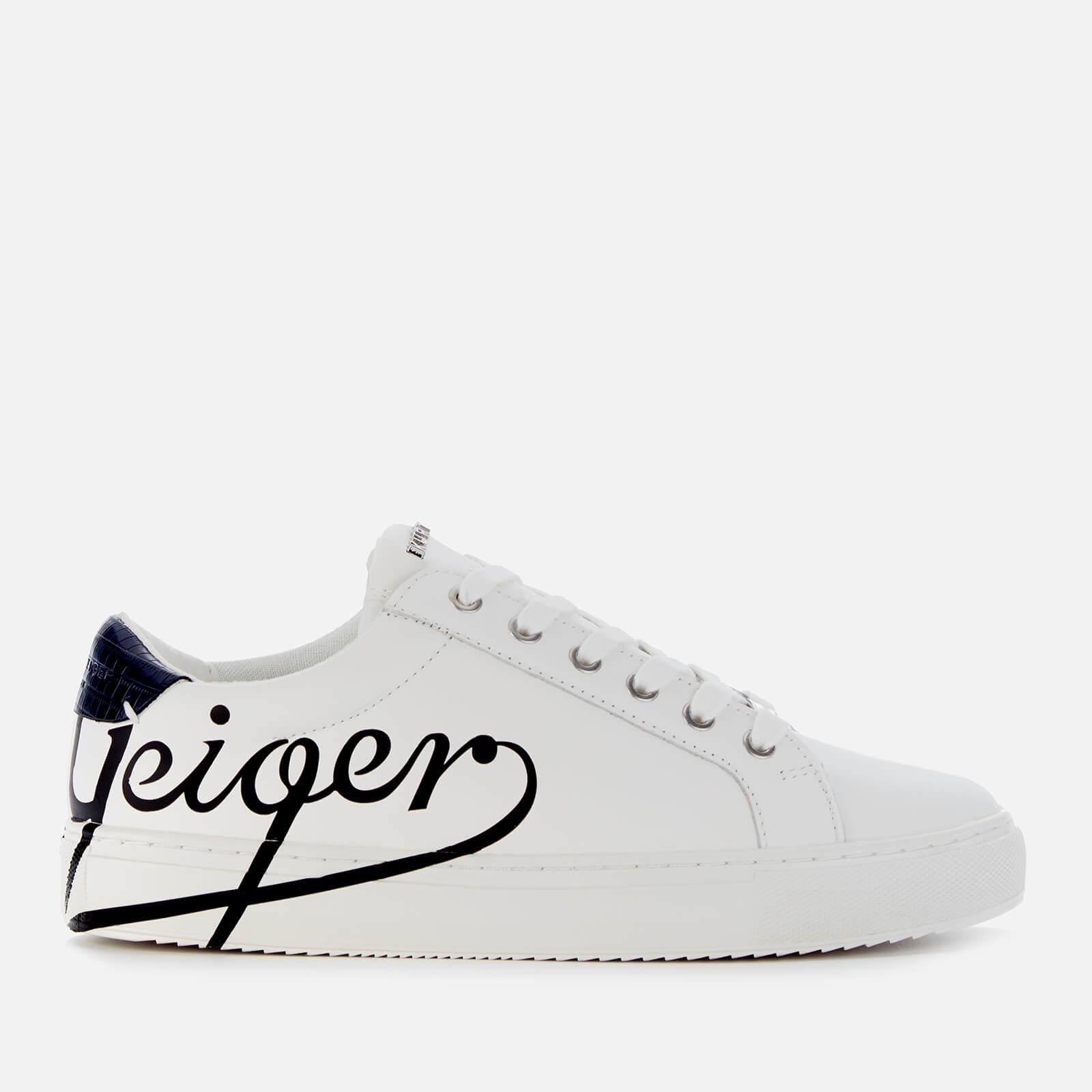Kurt Geiger London Women's Liza Geiger Leather Cupsole Trainers - White/Black - UK 7 - White