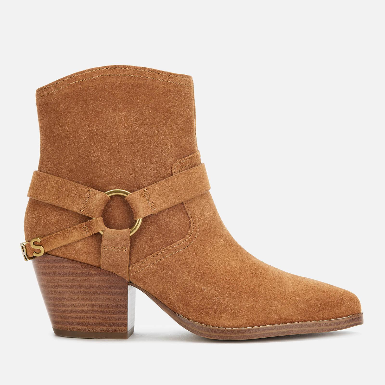 MICHAEL MICHAEL KORS Women's Goldie Suede Western Boots - Acorn - UK 7/US 10 - Tan