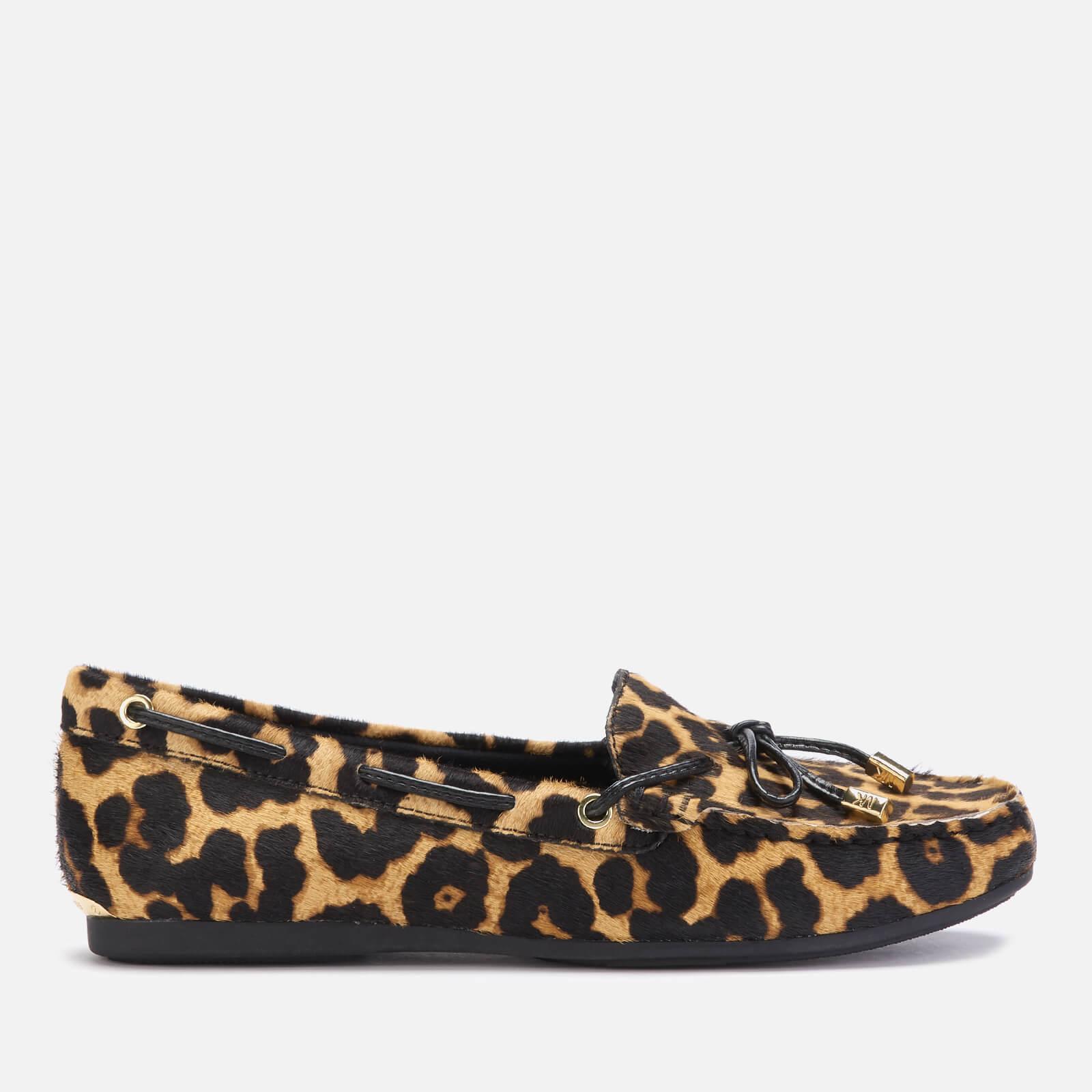 MICHAEL MICHAEL KORS Women's Sutton Leopard Moc Flats - Natural - UK 5/US 8 - Tan