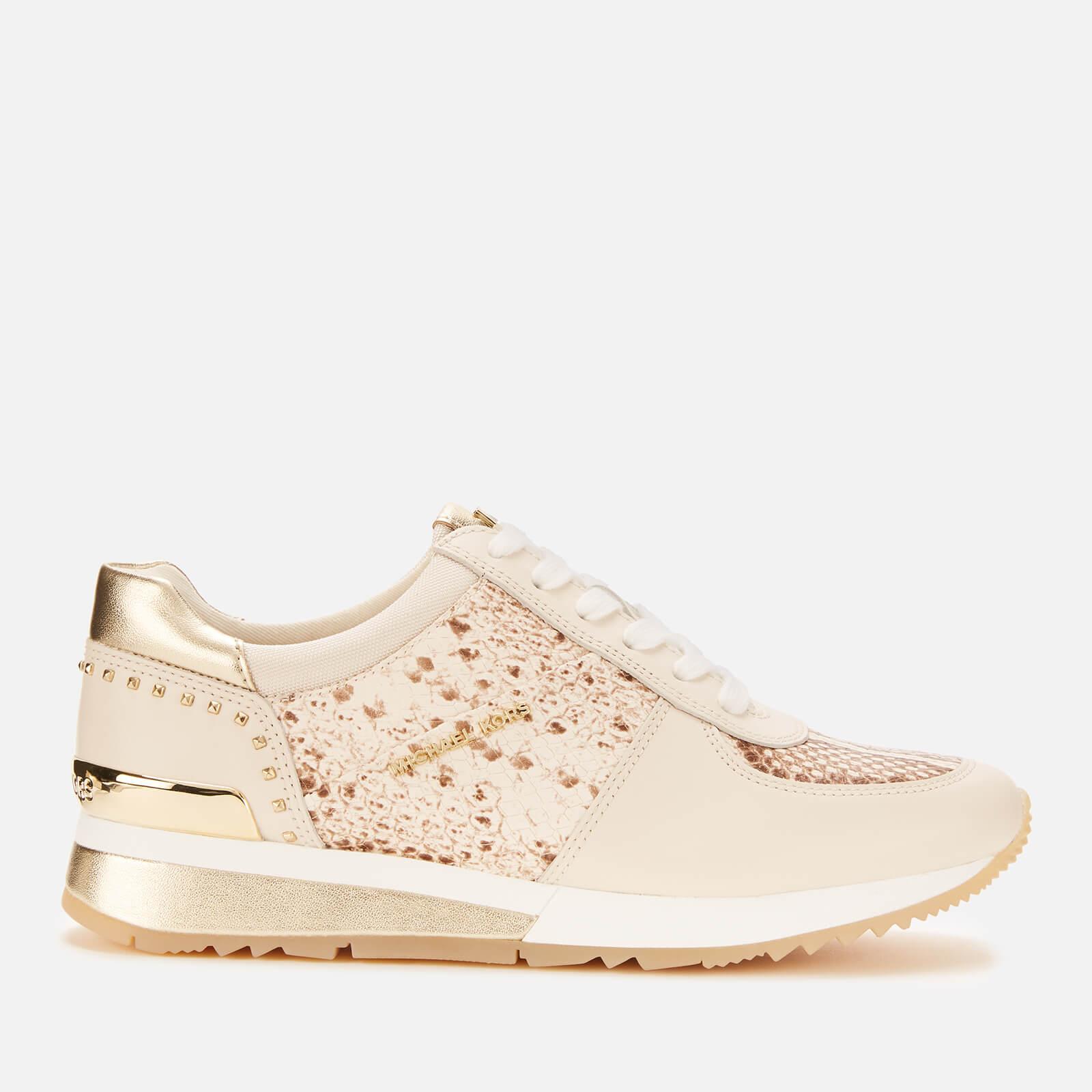 MICHAEL MICHAEL KORS Women's Allie Leather Wrap Runner Style Trainers - Light Cream - UK 6/US 9 - White