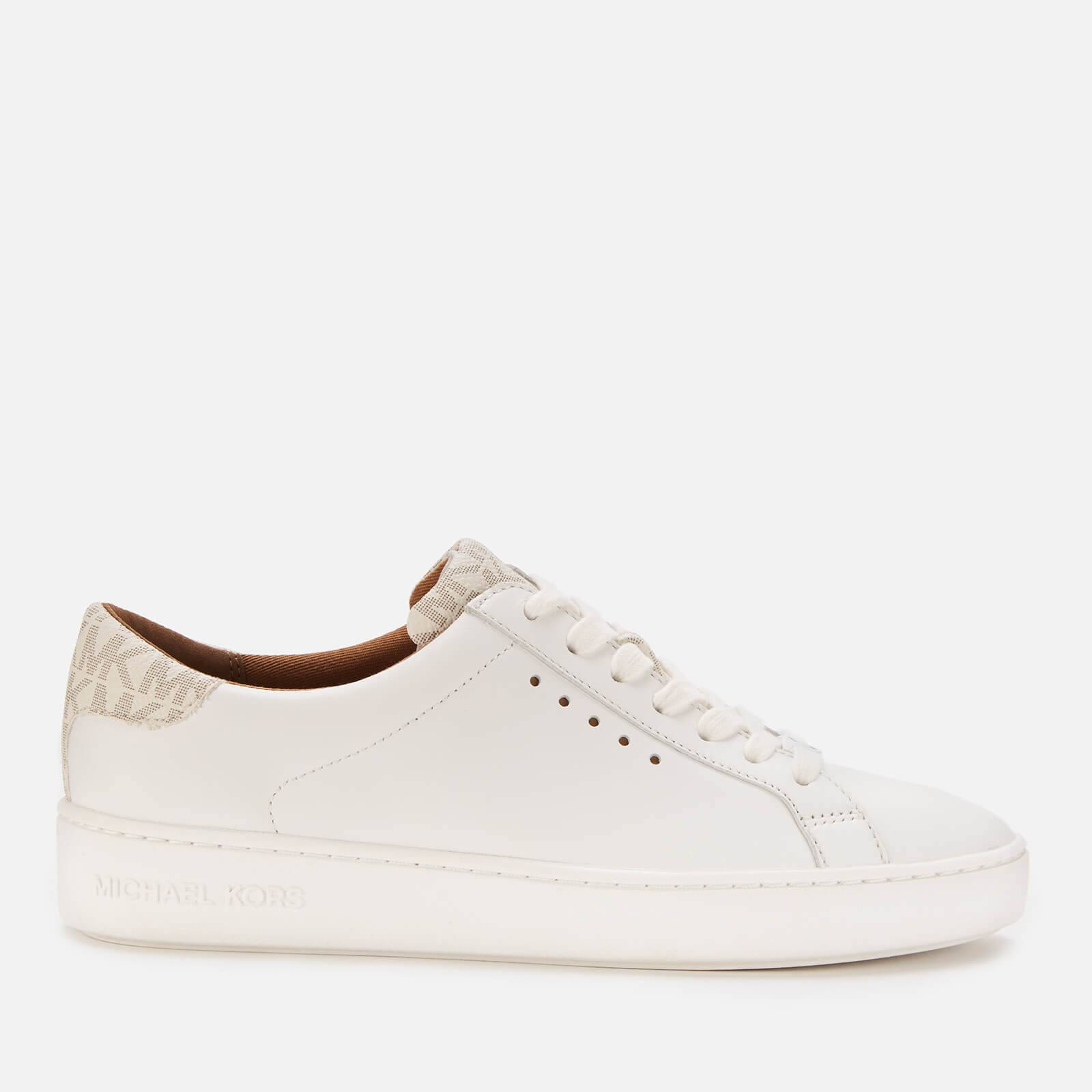 MICHAEL MICHAEL KORS Women's Irving Leather Cupsole Trainers - Optic White/Vanilla - UK 4/US 7 - White