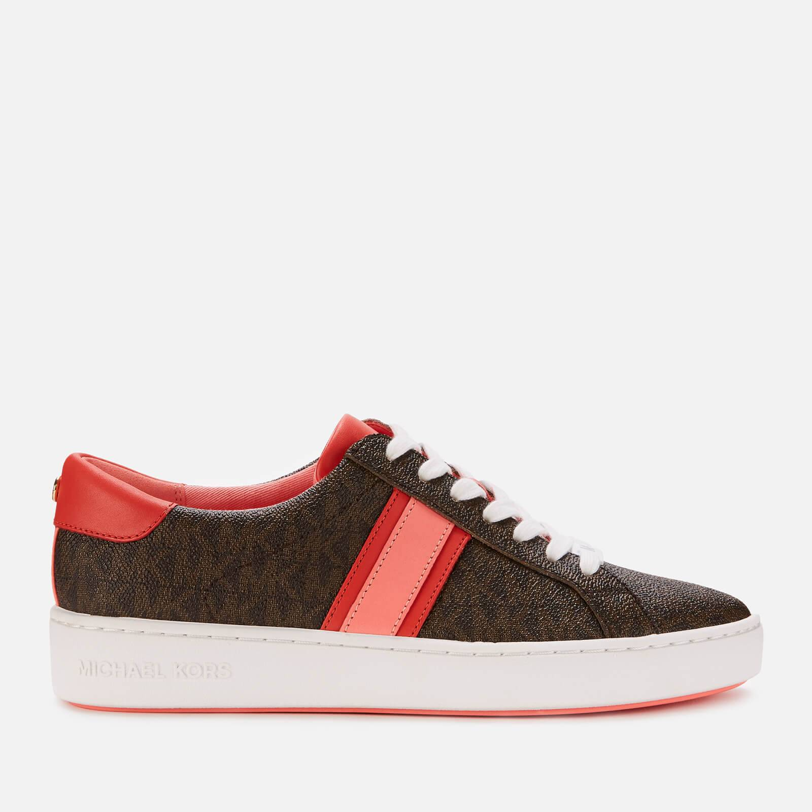 MICHAEL MICHAEL KORS Women's Irving Leather Cupsole Trainers - Brown - UK 3/US 6 - Brown