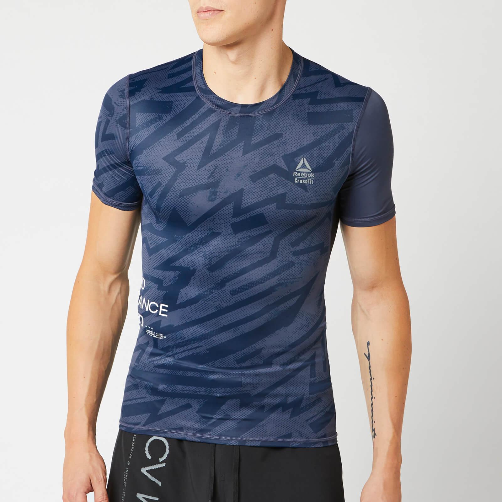 Reebok Men's CrossFit Comp Short Sleeve T-Shirt - Blue - XXL - Blue