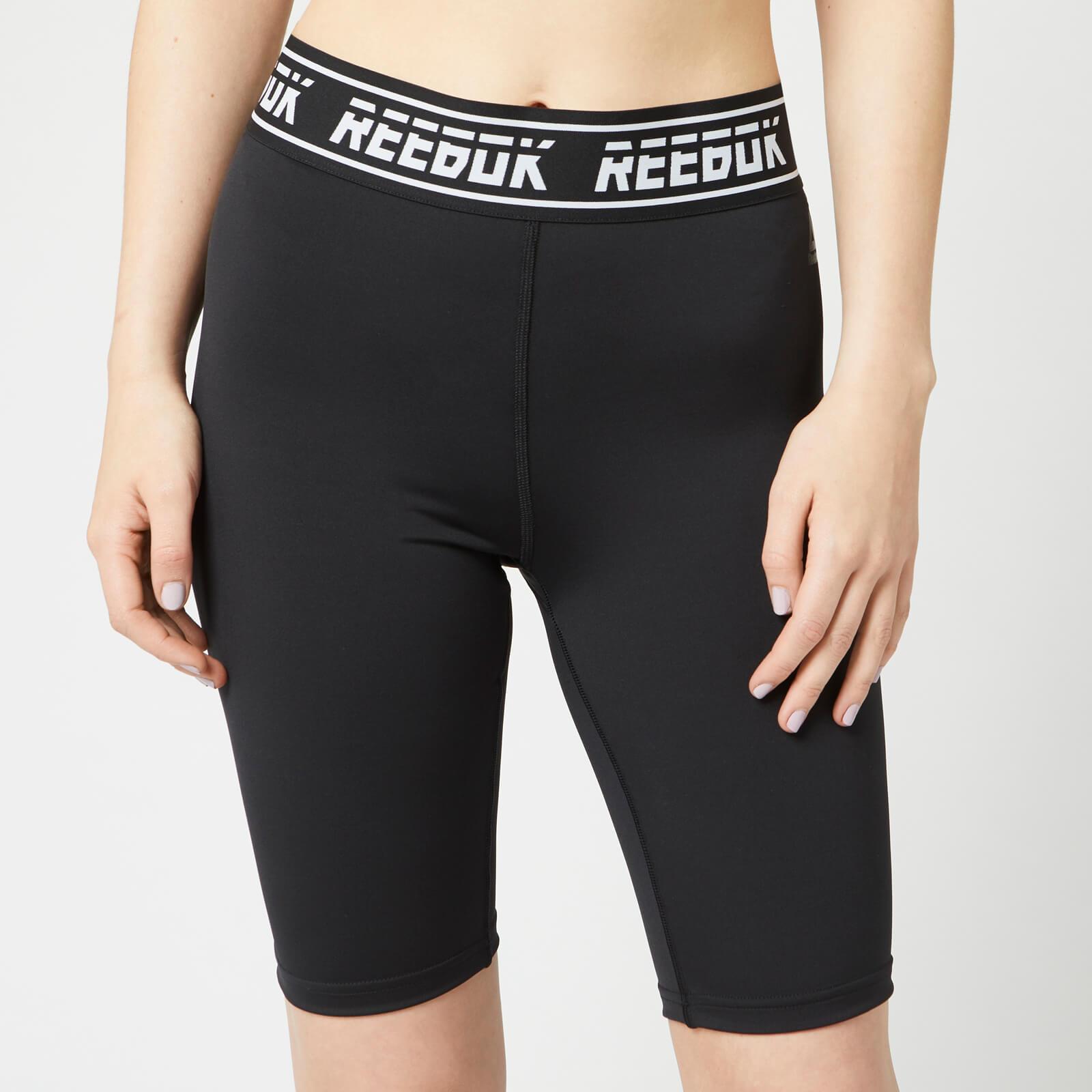 Reebok Women's WOR MYT Bike Shorts - Black - L - Black