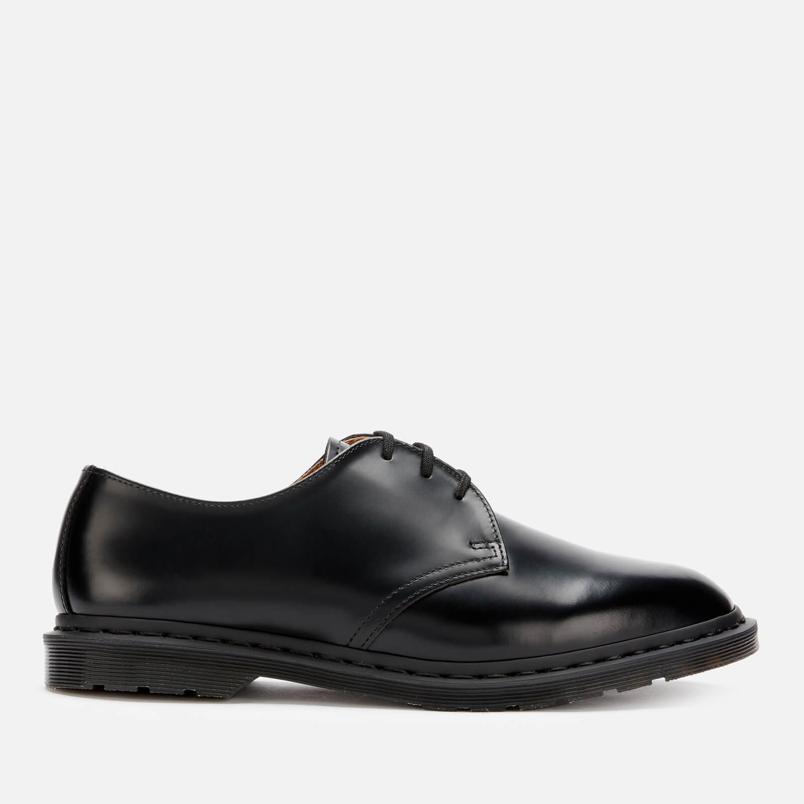 Dr. Martens Men's Archie II Polished Smooth Leather Derby Shoes - Black - UK 11 - Black