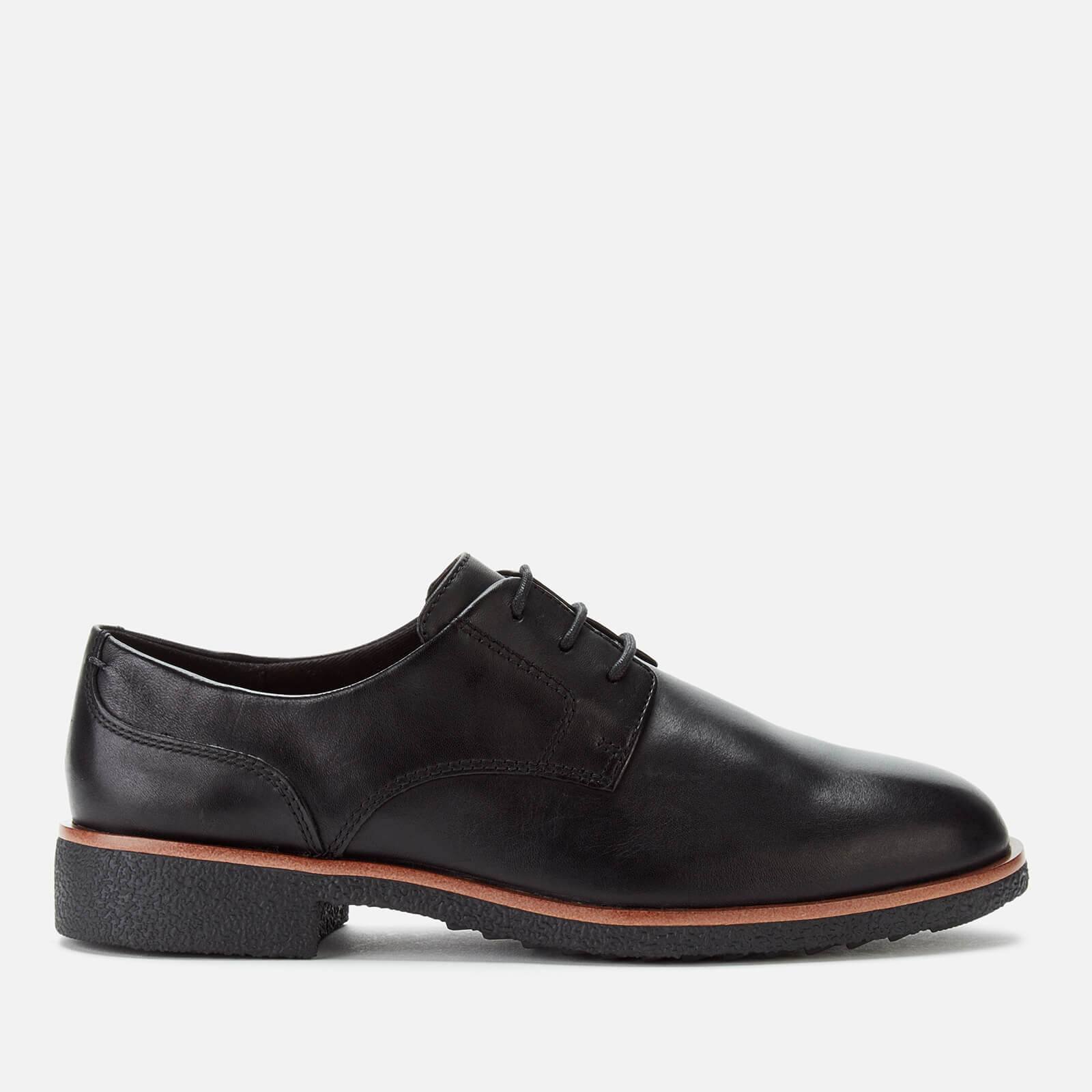 Clarks Women's Griffin Lane Leather Derby Shoes - Black - UK 8