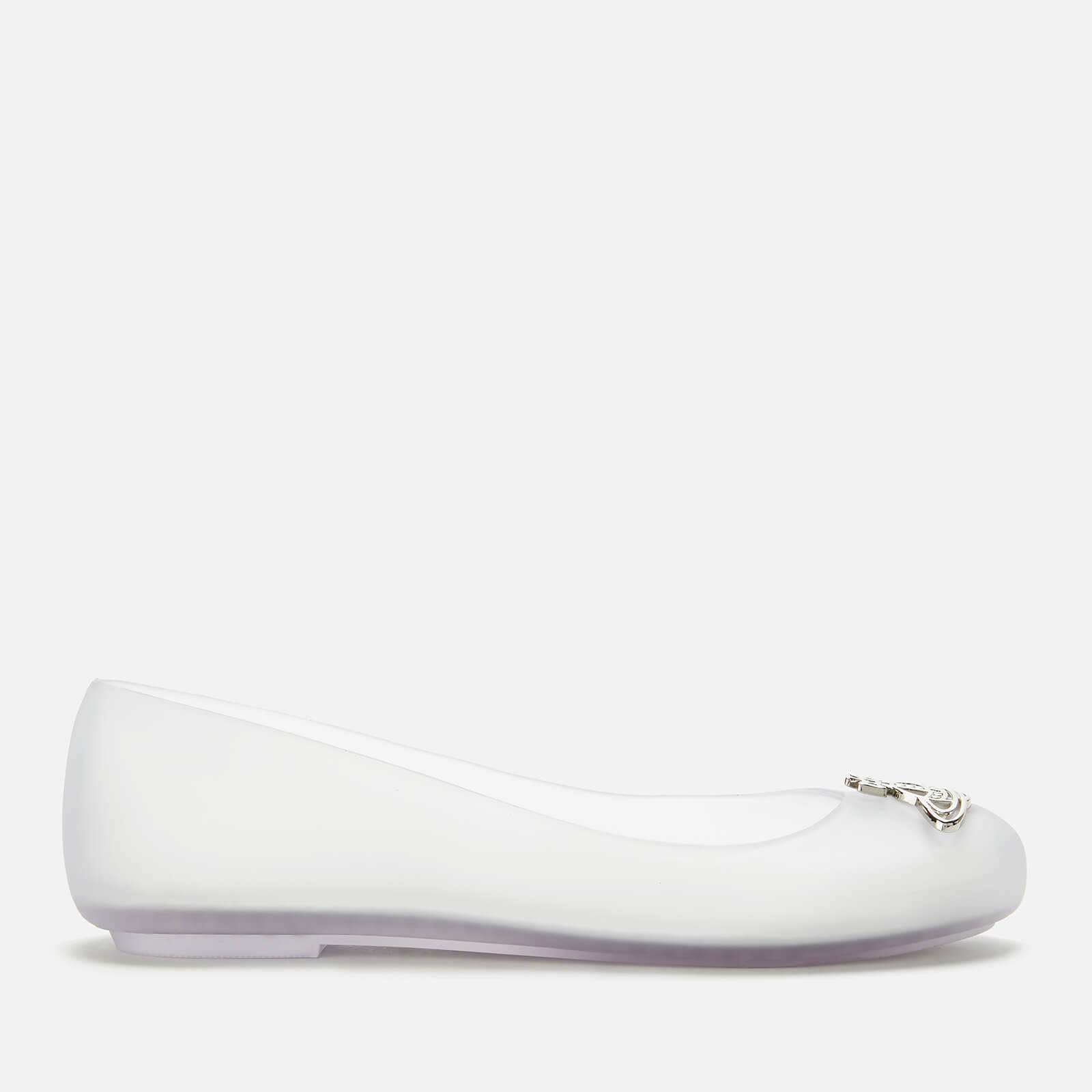 Vivienne Westwood for Melissa Women's Space Love 22 Ballet Flats - Clear/Cut Out Orb - UK 7 - White