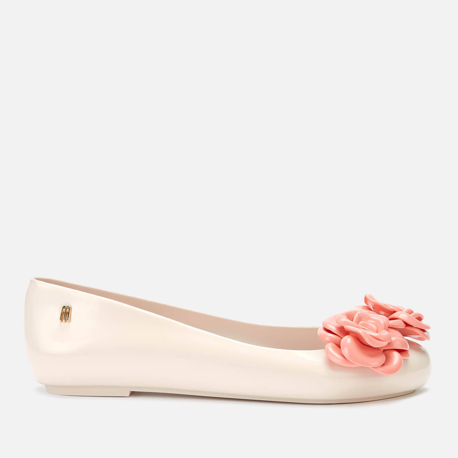 Melissa Women's Space Love Flower Ballet Flats - Coral Contrast - UK 3 - Pink