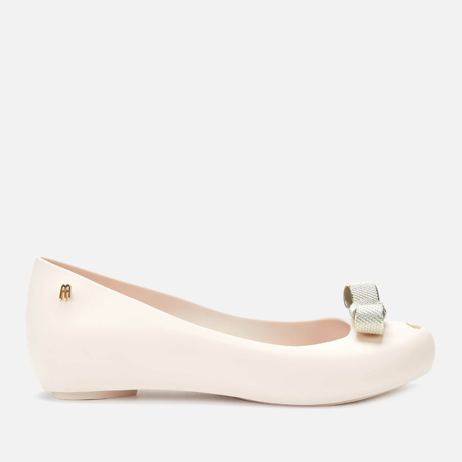 Melissa Women's Ultragirl Chrome Tie Ballet Flats - Ivory - UK 8 - White